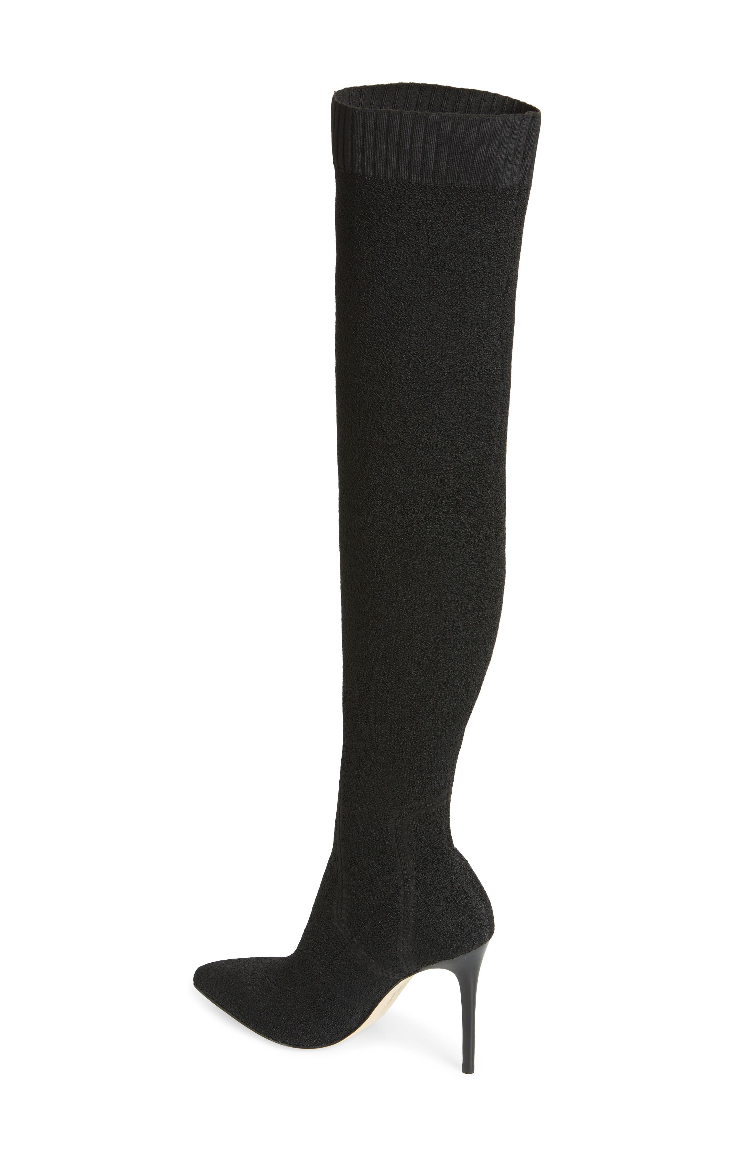 Jessamine Over the Knee Boot,                             Alternate thumbnail 2, color,                             BLACK