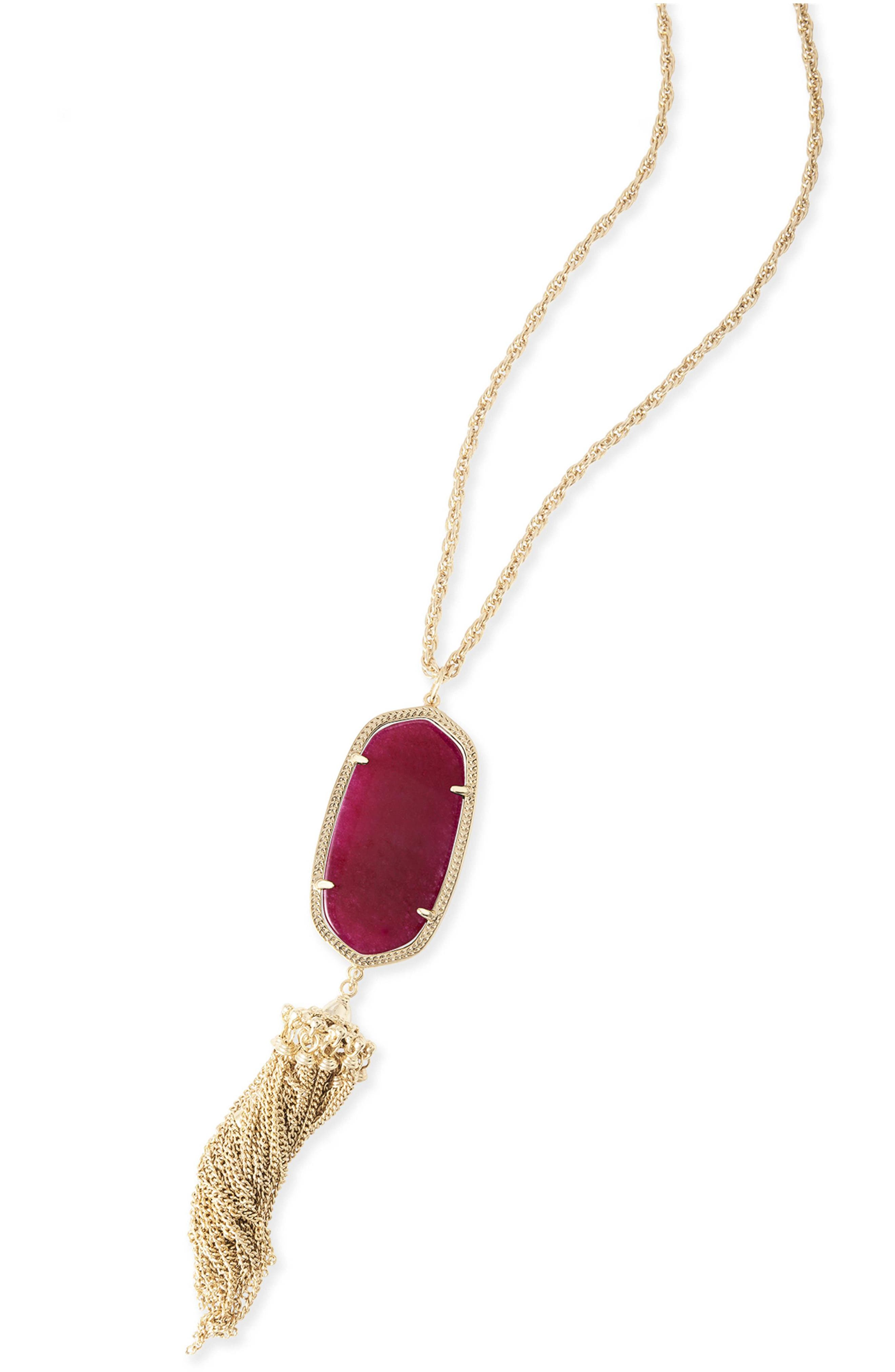 Rayne Stone Tassel Pendant Necklace,                             Alternate thumbnail 102, color,