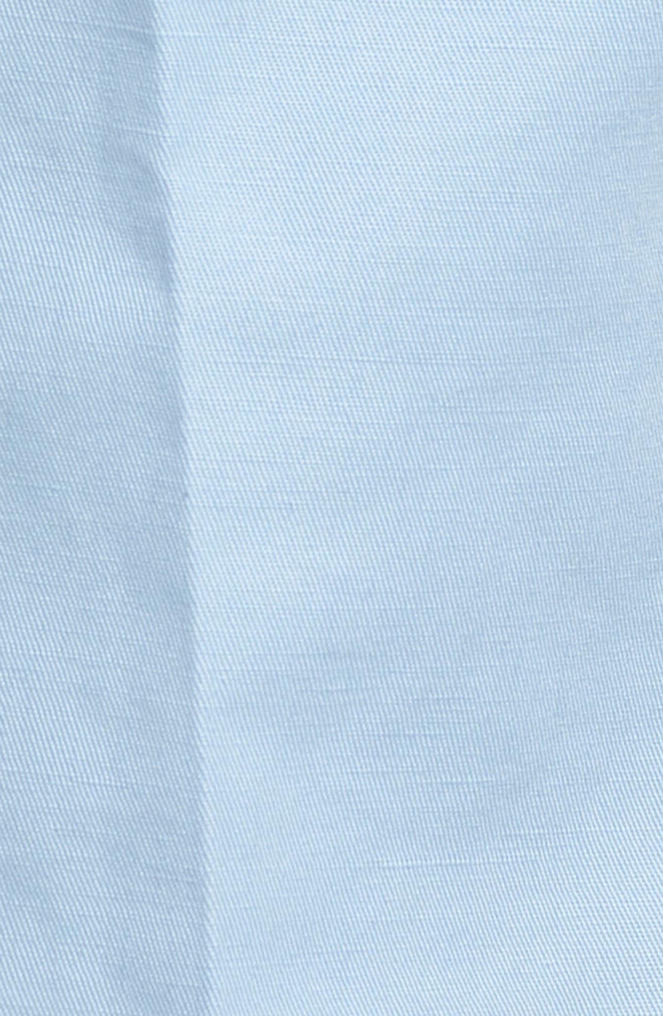 Flat Front Solid Cotton & Linen Trousers,                             Alternate thumbnail 7, color,