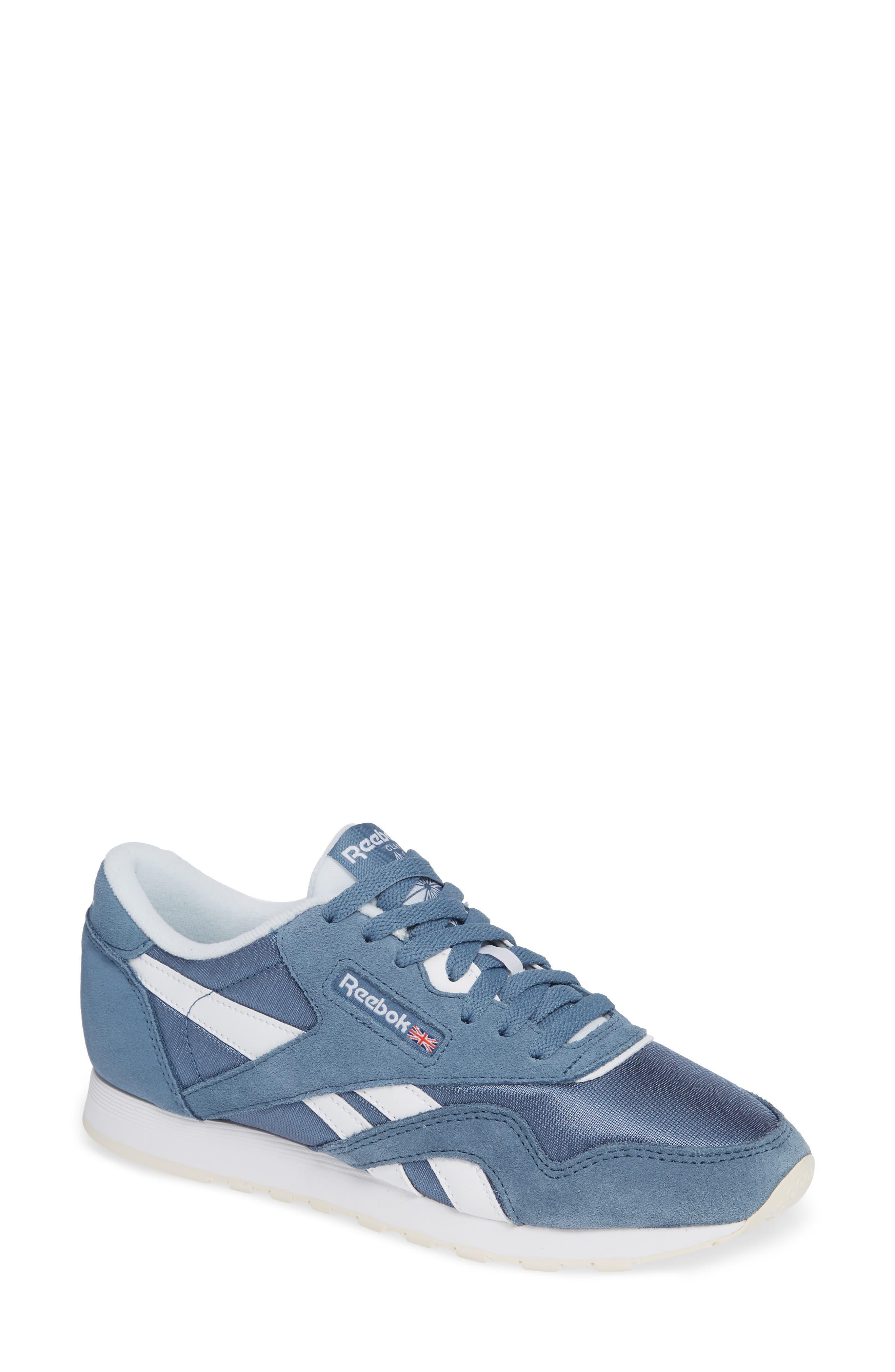 Classic Sneaker,                             Main thumbnail 1, color,                             BLUE SLATE/ WHITE/ CHALK