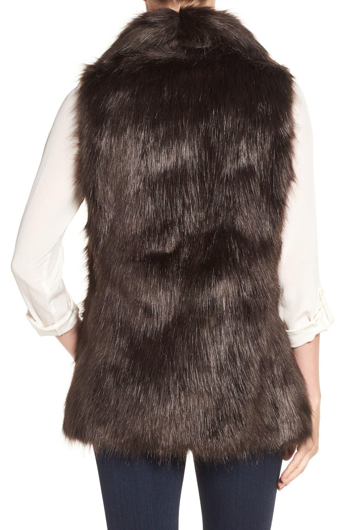 Faux Fur Vest,                             Alternate thumbnail 8, color,