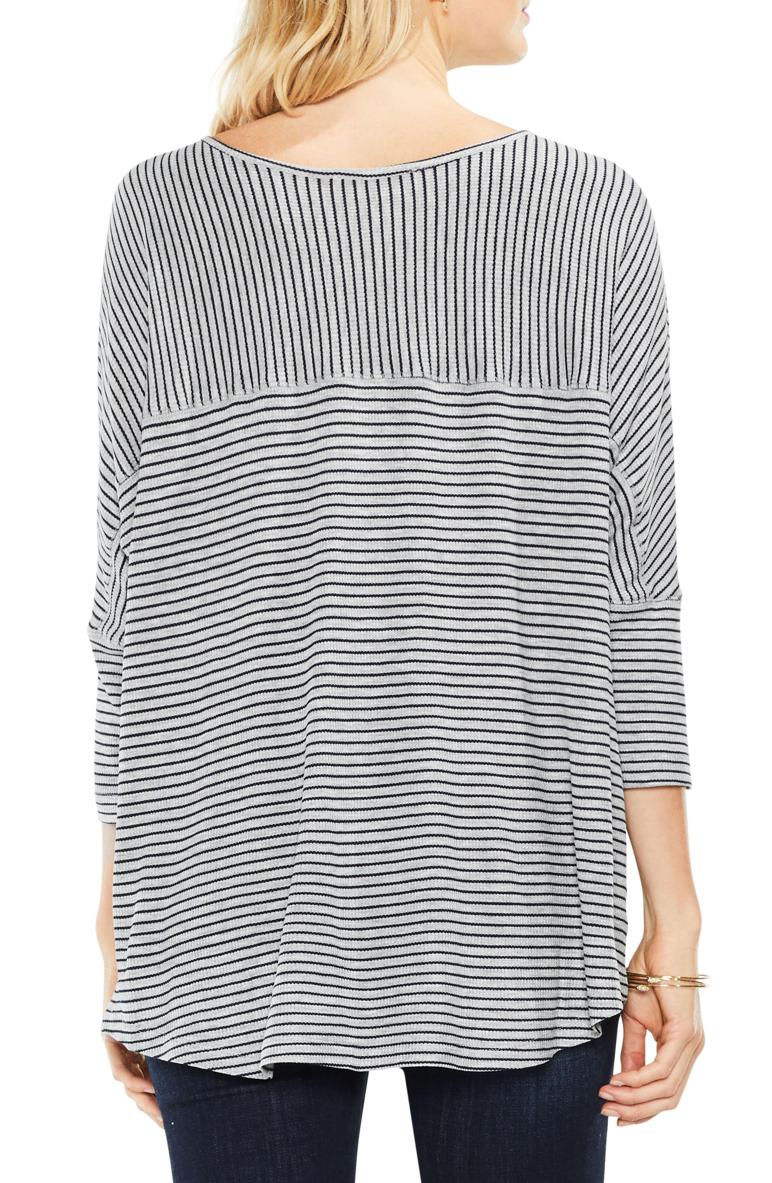 Stripe Knit Top,                             Alternate thumbnail 2, color,                             078