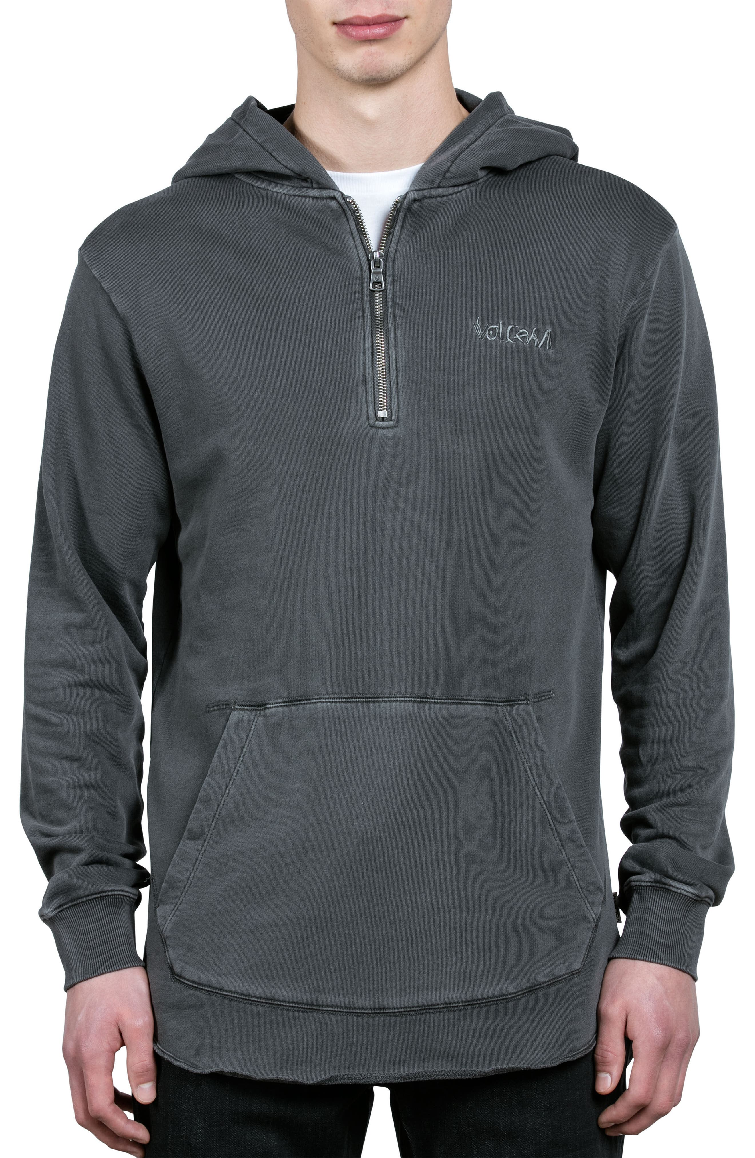 Cassette Embroidered Half Zip Hoodie,                             Main thumbnail 1, color,                             001