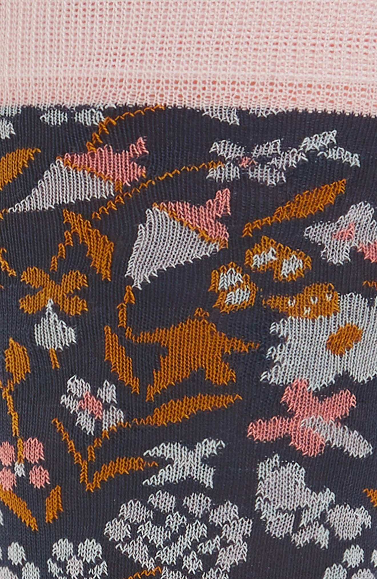 Tapestry Floral Socks,                             Alternate thumbnail 2, color,                             410