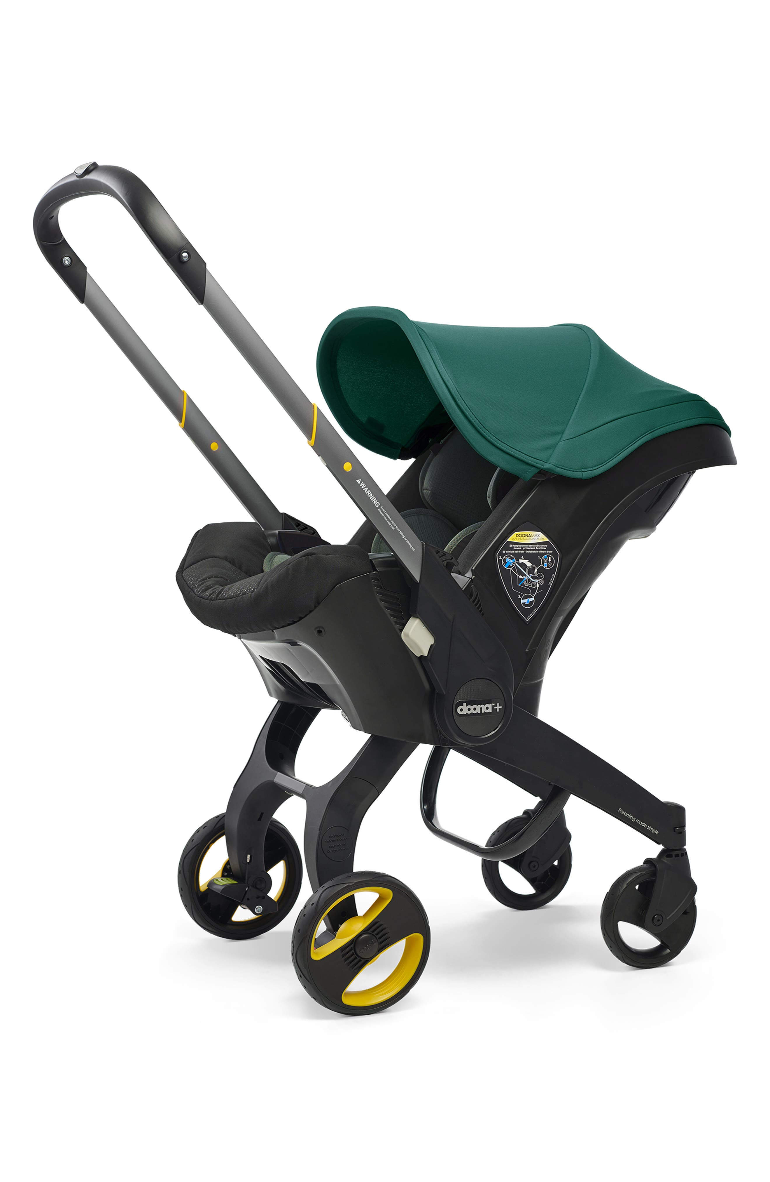 Infant Doona Convertible Infant Car Seatcompact Stroller System With Base Size One Size  Green