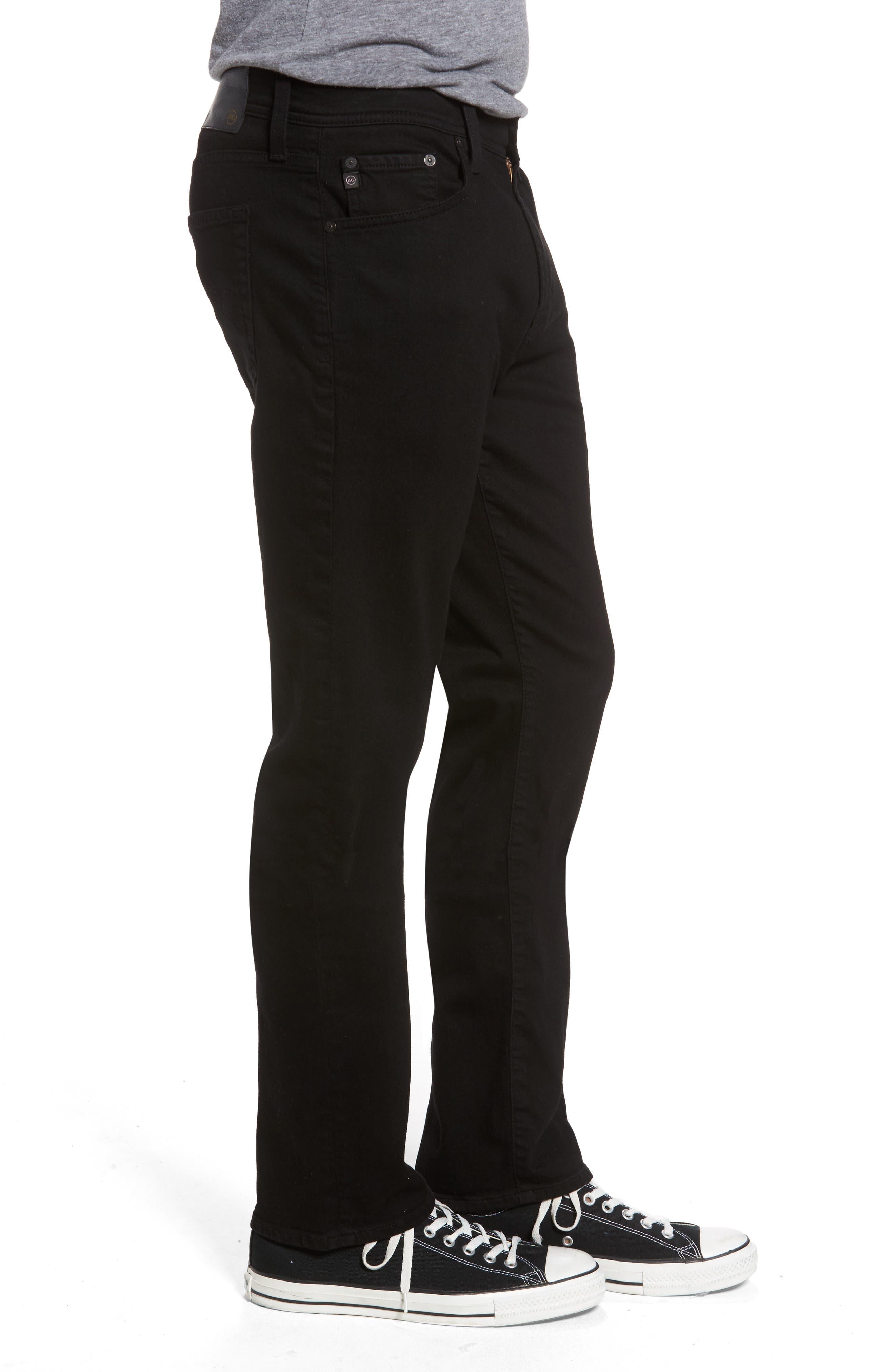 AG,                             Everett Slim Straight Fit Jeans,                             Alternate thumbnail 3, color,                             BLACK SOOT