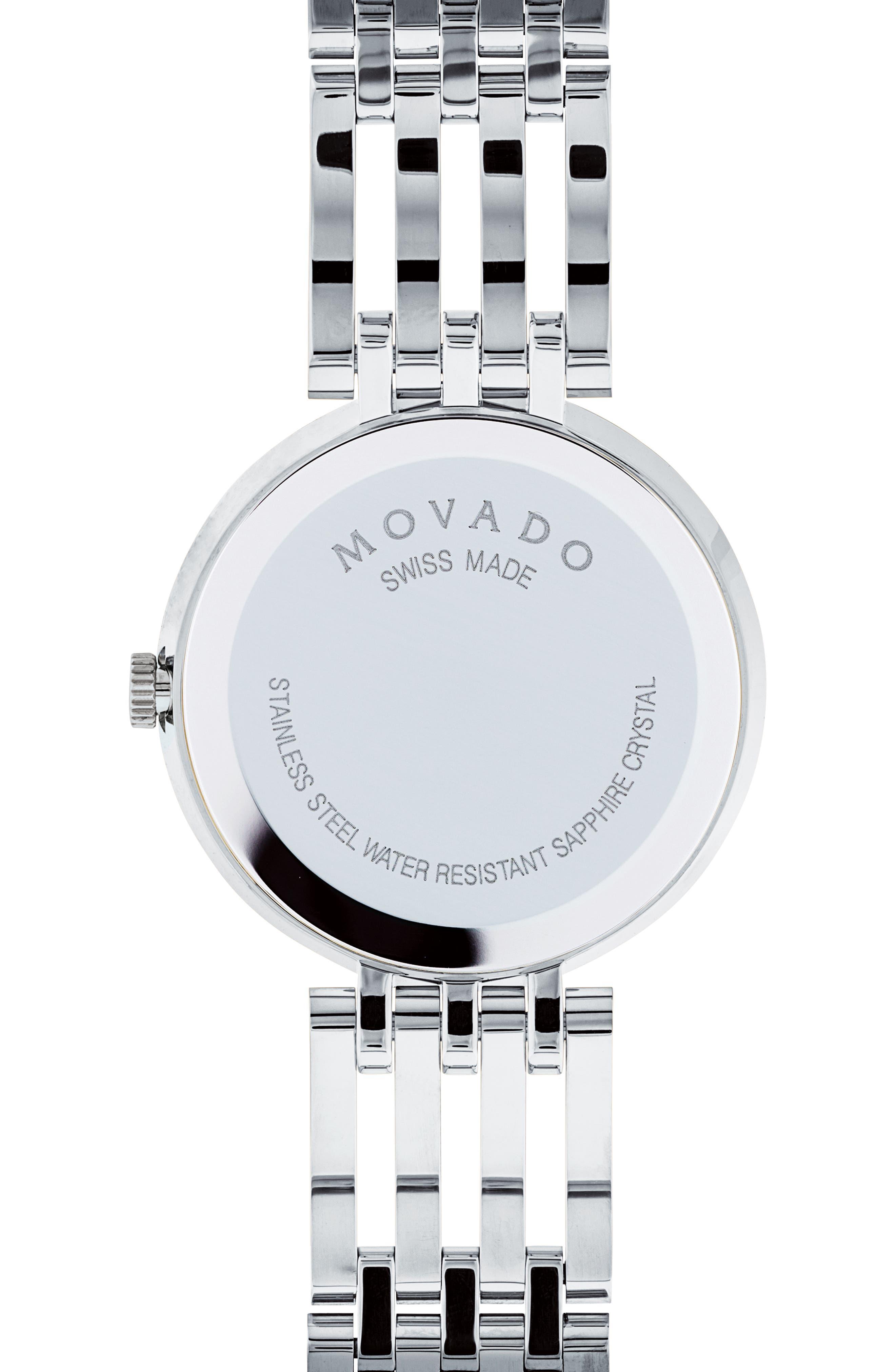 Esperanza Diamond Bracelet Watch, 28mm,                             Alternate thumbnail 2, color,                             SILVER/ BLUE MOP/ SILVER