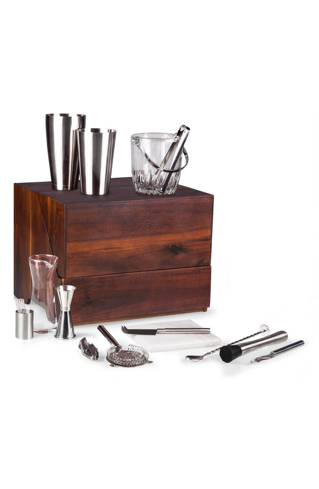 'Madison' Tabletop Bar Set,                             Alternate thumbnail 5, color,                             BROWN