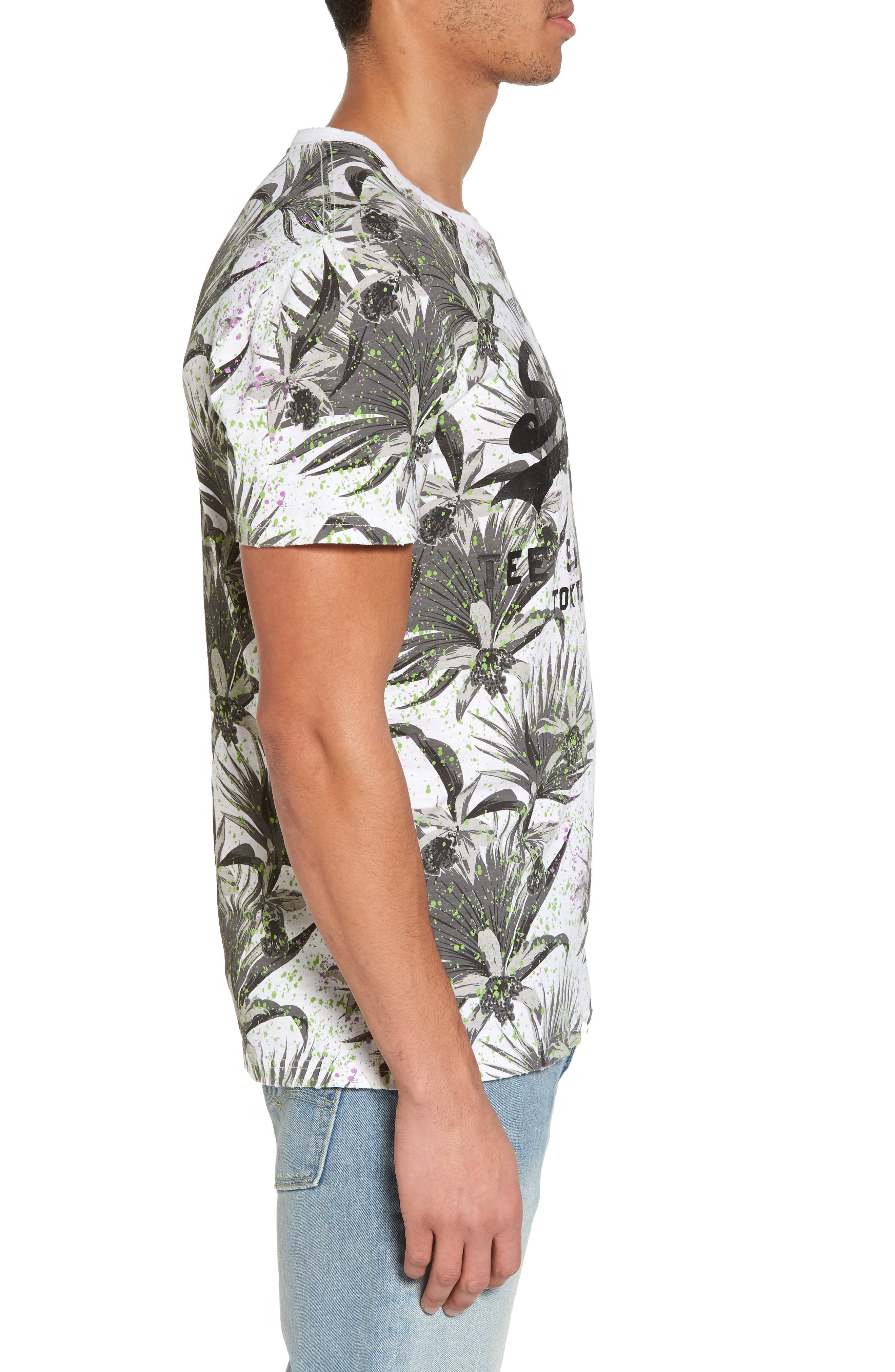 Shirt Shop Aop T-Shirt,                             Alternate thumbnail 3, color,                             OPTIC