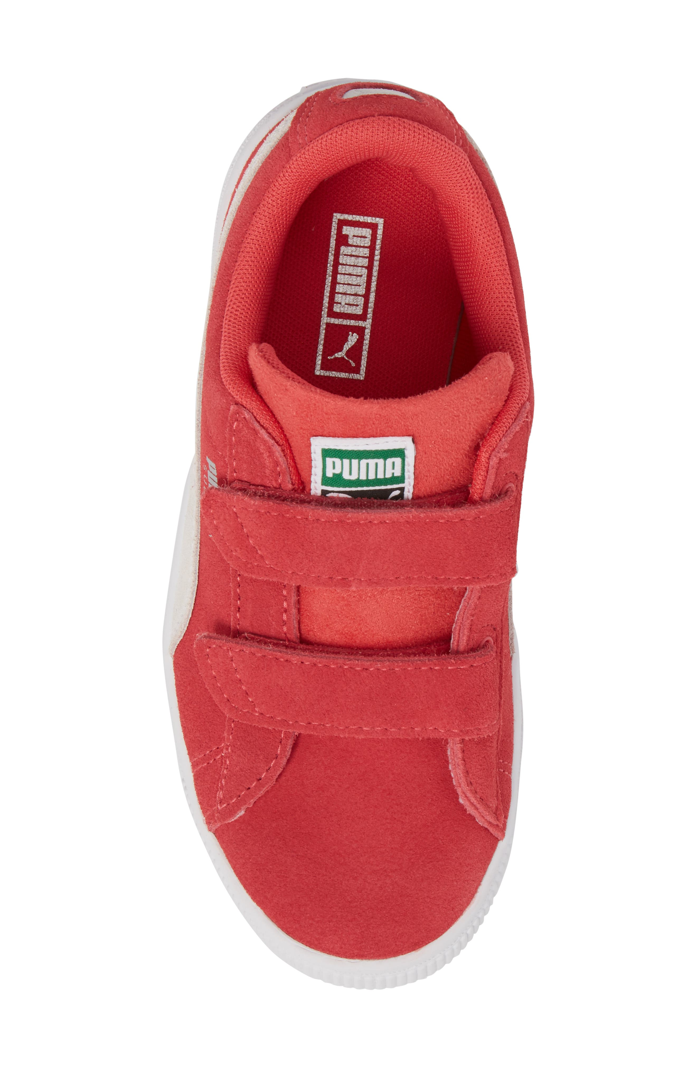 Suede Classic Sneaker,                             Alternate thumbnail 5, color,                             PARADISE PINK/ PUMA WHITE