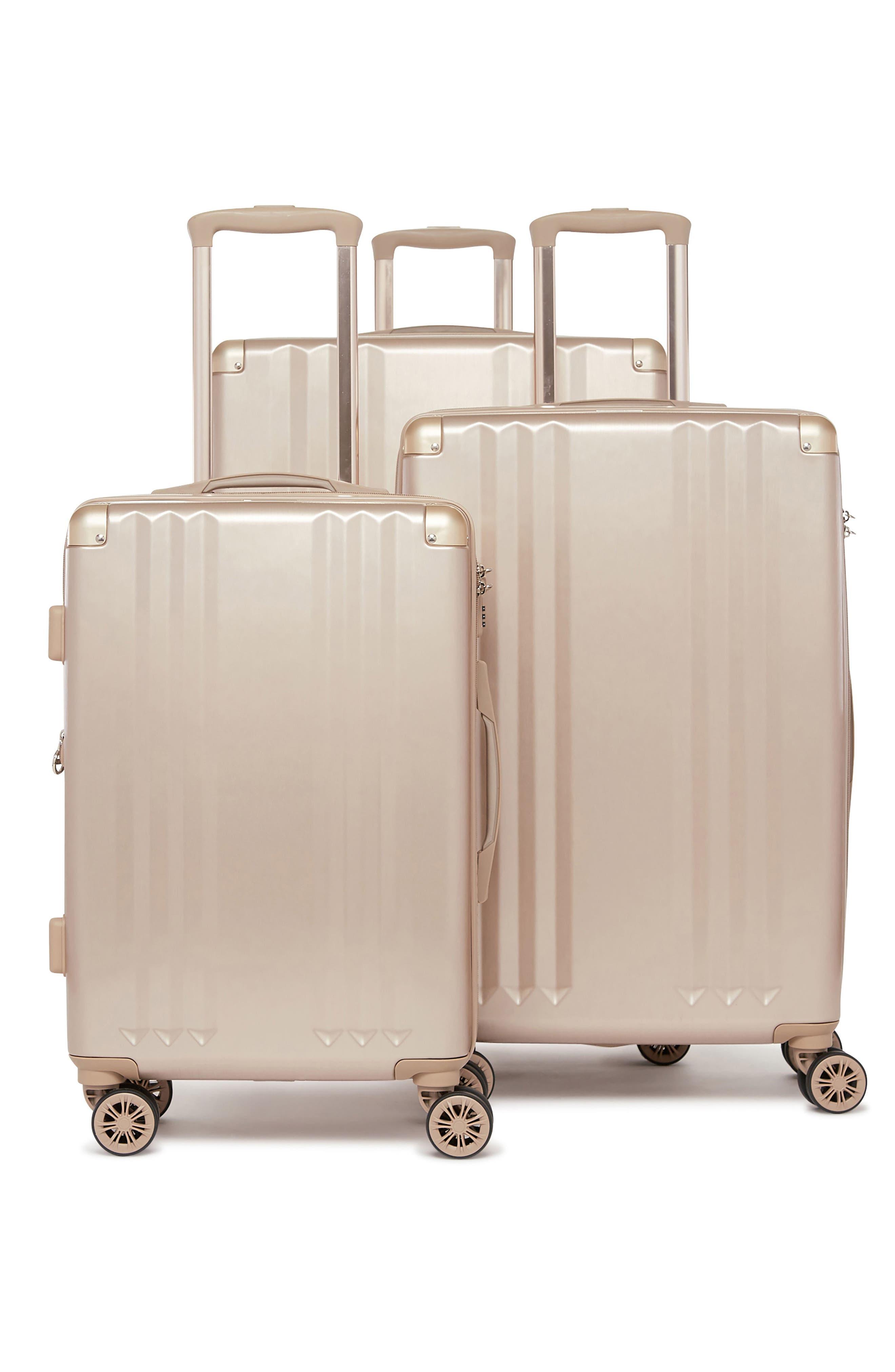 Ambeur 3-Piece Metallic Luggage Set,                             Alternate thumbnail 3, color,                             GOLD