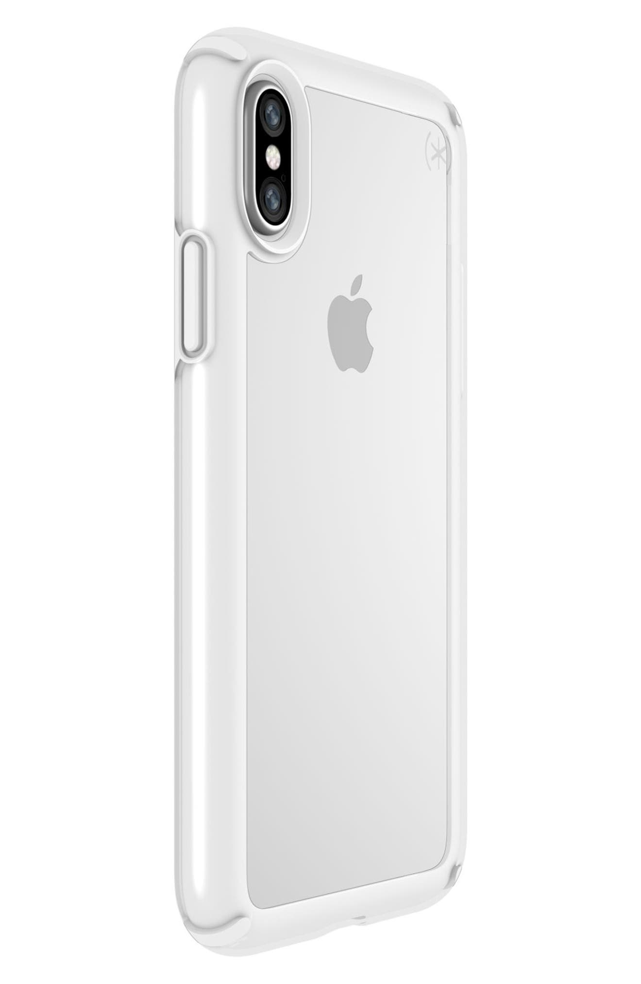 Transparent iPhone X & Xs Case,                             Alternate thumbnail 6, color,                             CLEAR/ BRIGHT WHITE