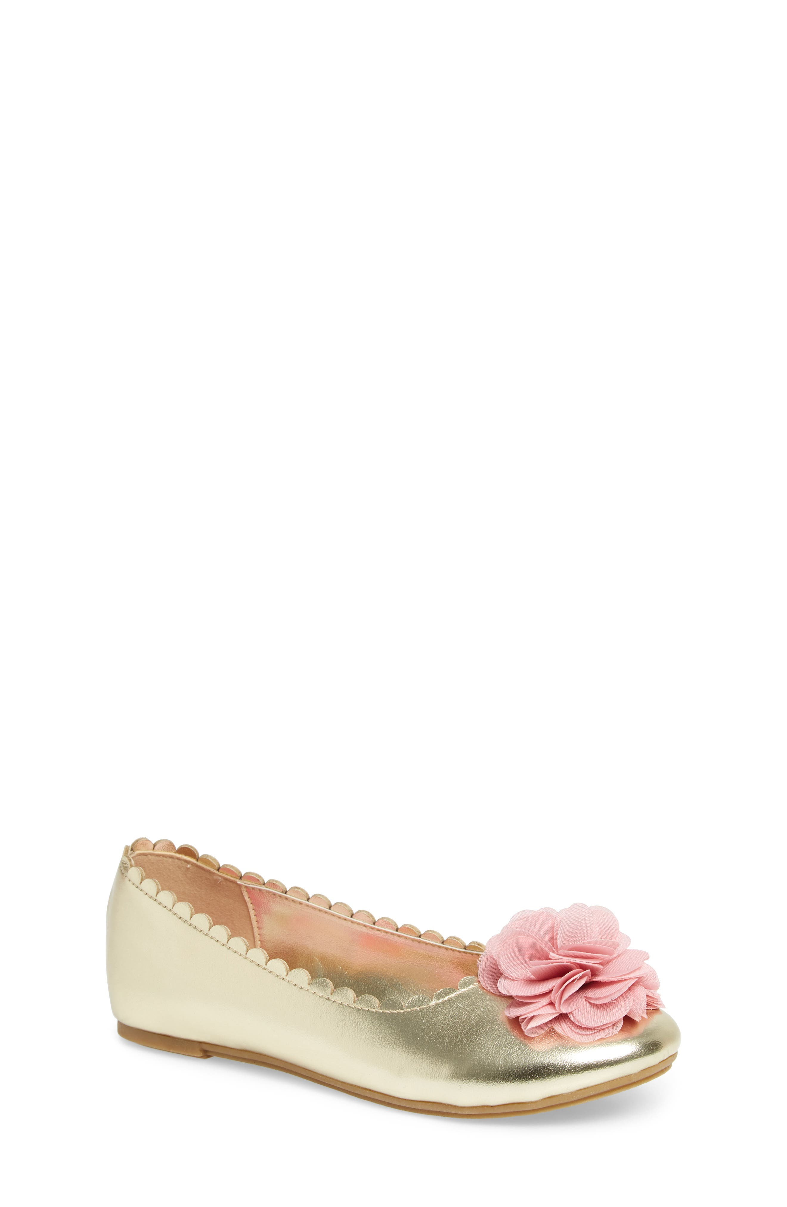 Ashlyn Flower Ballet Flat,                             Main thumbnail 1, color,                             710