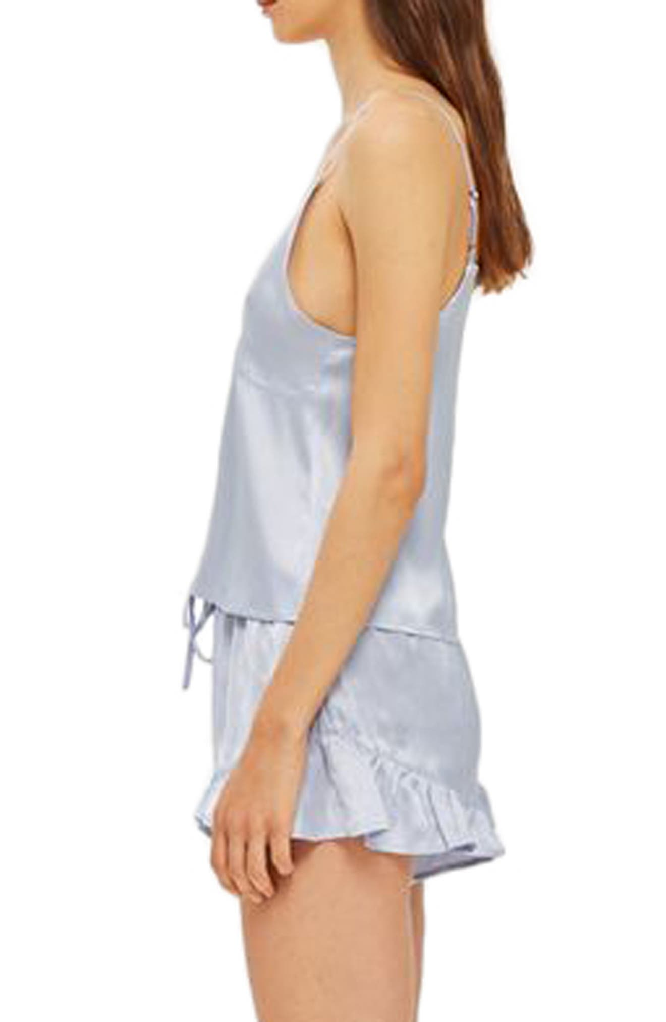 Lucina Satin Short Pajamas,                             Alternate thumbnail 2, color,                             450