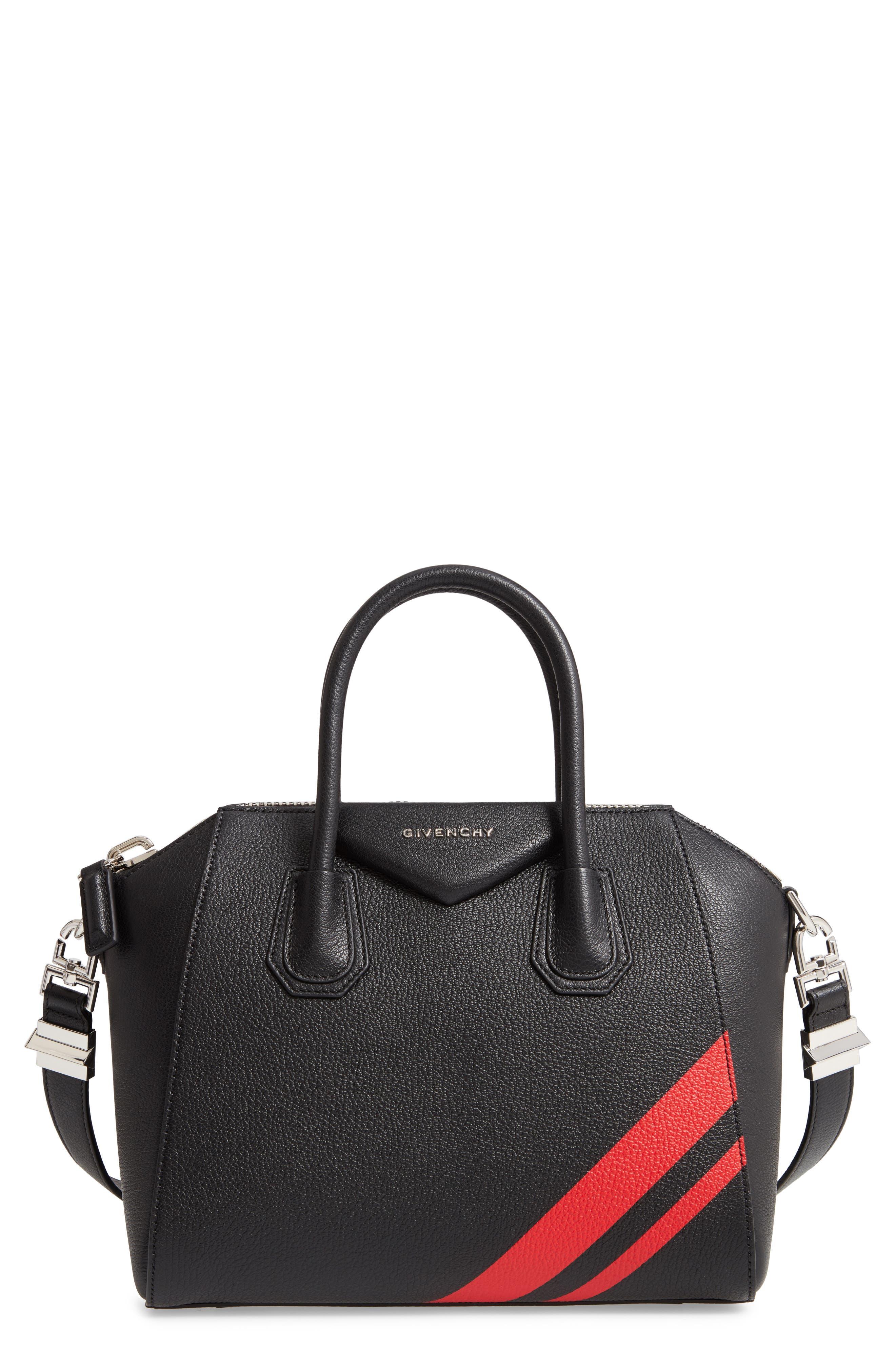 Small Antigona Striped Leather Satchel by Givenchy