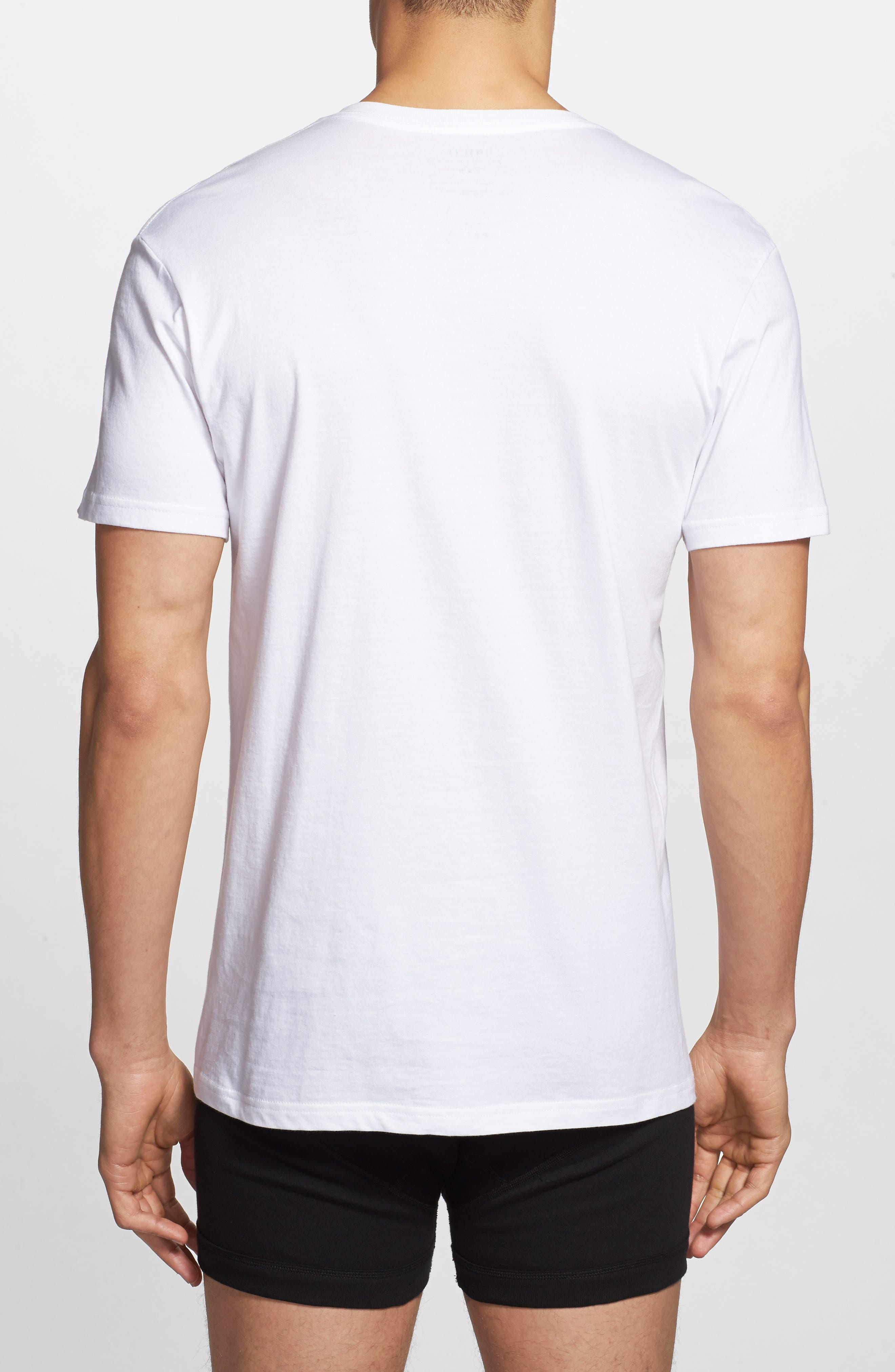 5-Pack V-Neck T-Shirts,                             Alternate thumbnail 3, color,                             100