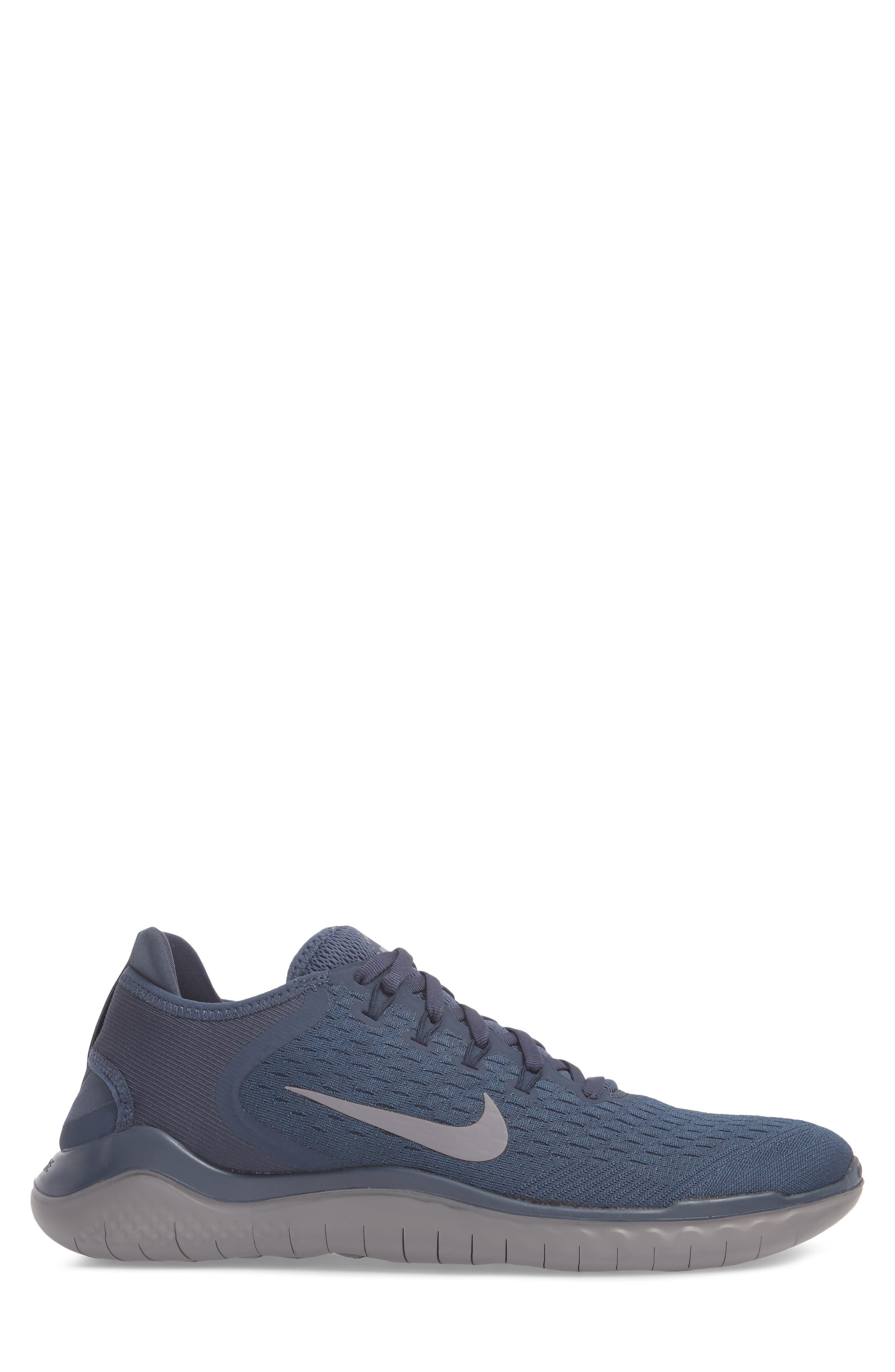 Free RN 2018 Running Shoe,                             Alternate thumbnail 3, color,                             THUNDER BLUE/ SMOKE