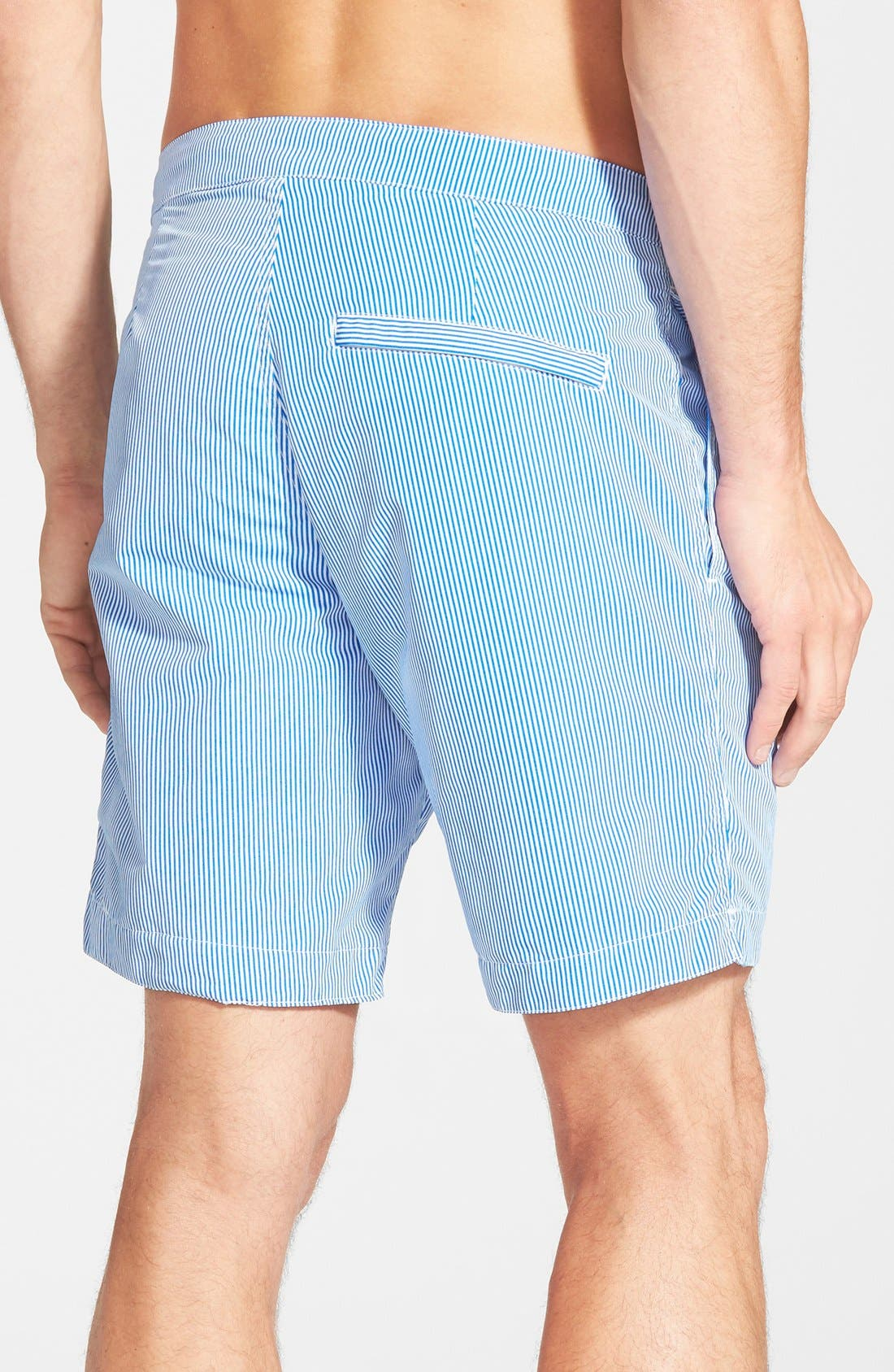 'Aruba - Stripe' Tailored Fit 8.5 Inch Board Shorts,                             Alternate thumbnail 2, color,                             400