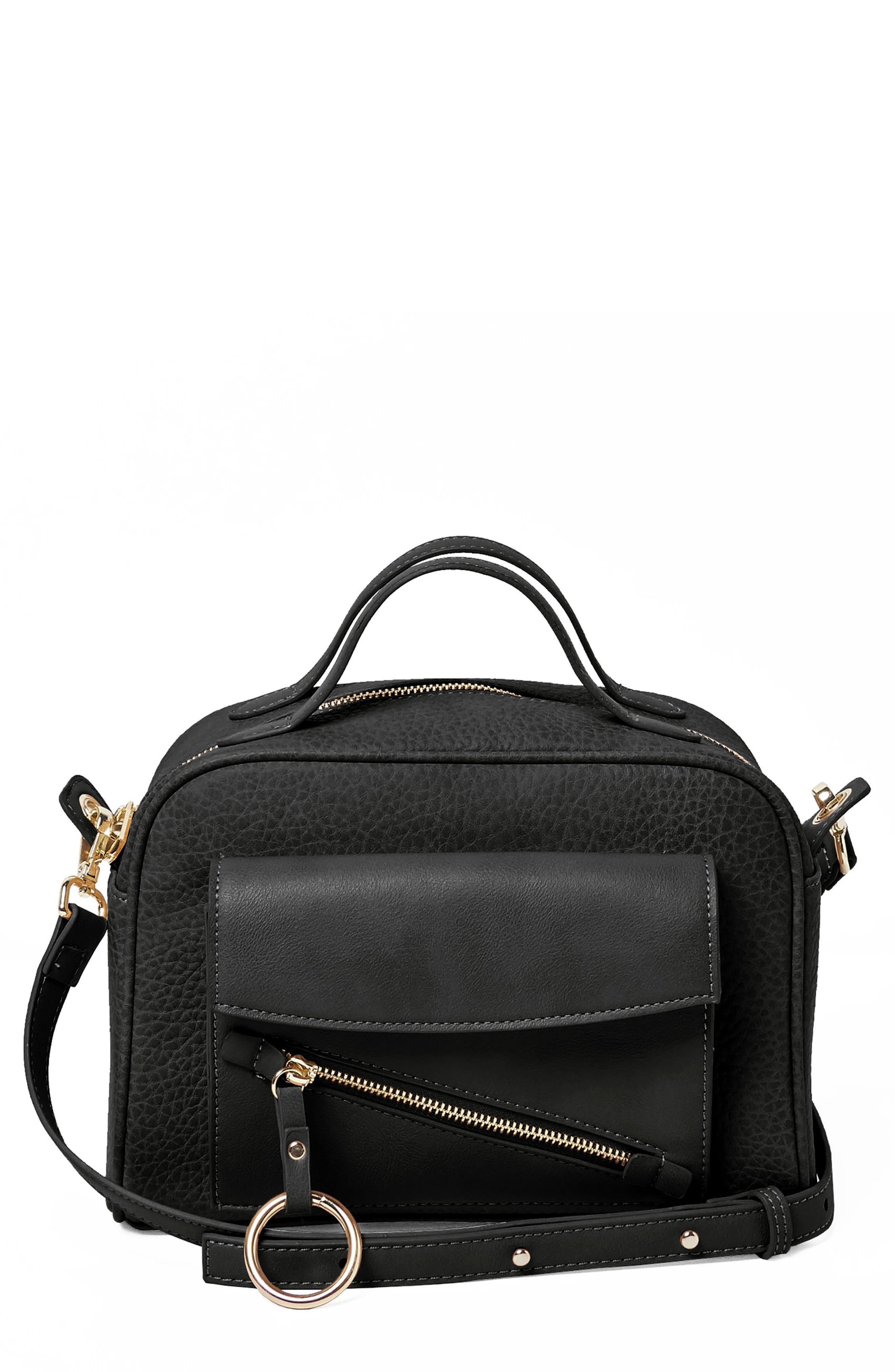 Easy Rider Vegan Leather Crossbody Bag,                         Main,                         color,