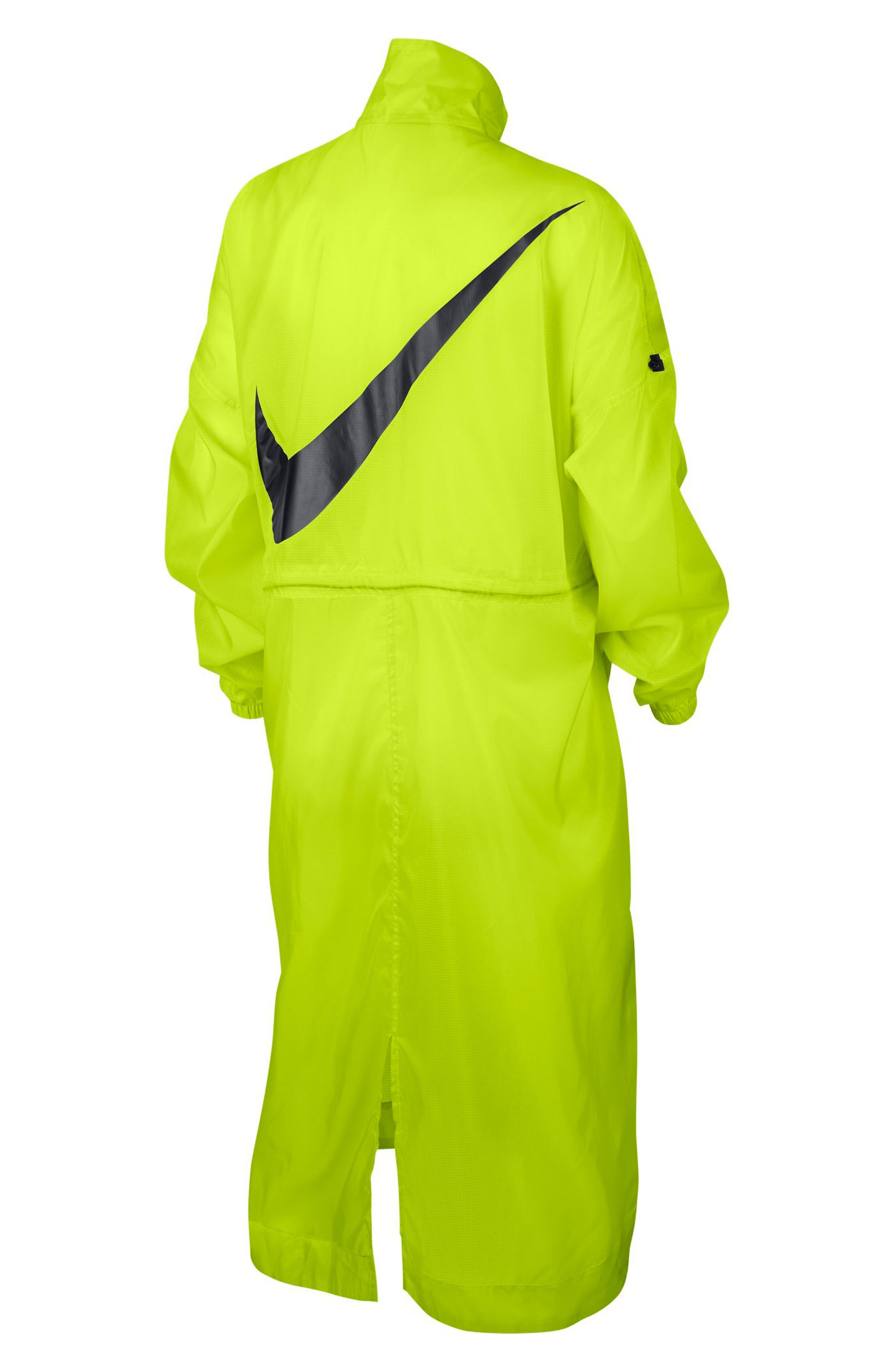 NIKE,                             Sportswear Women's Woven Jacket,                             Alternate thumbnail 7, color,                             CYBER/ BLACK