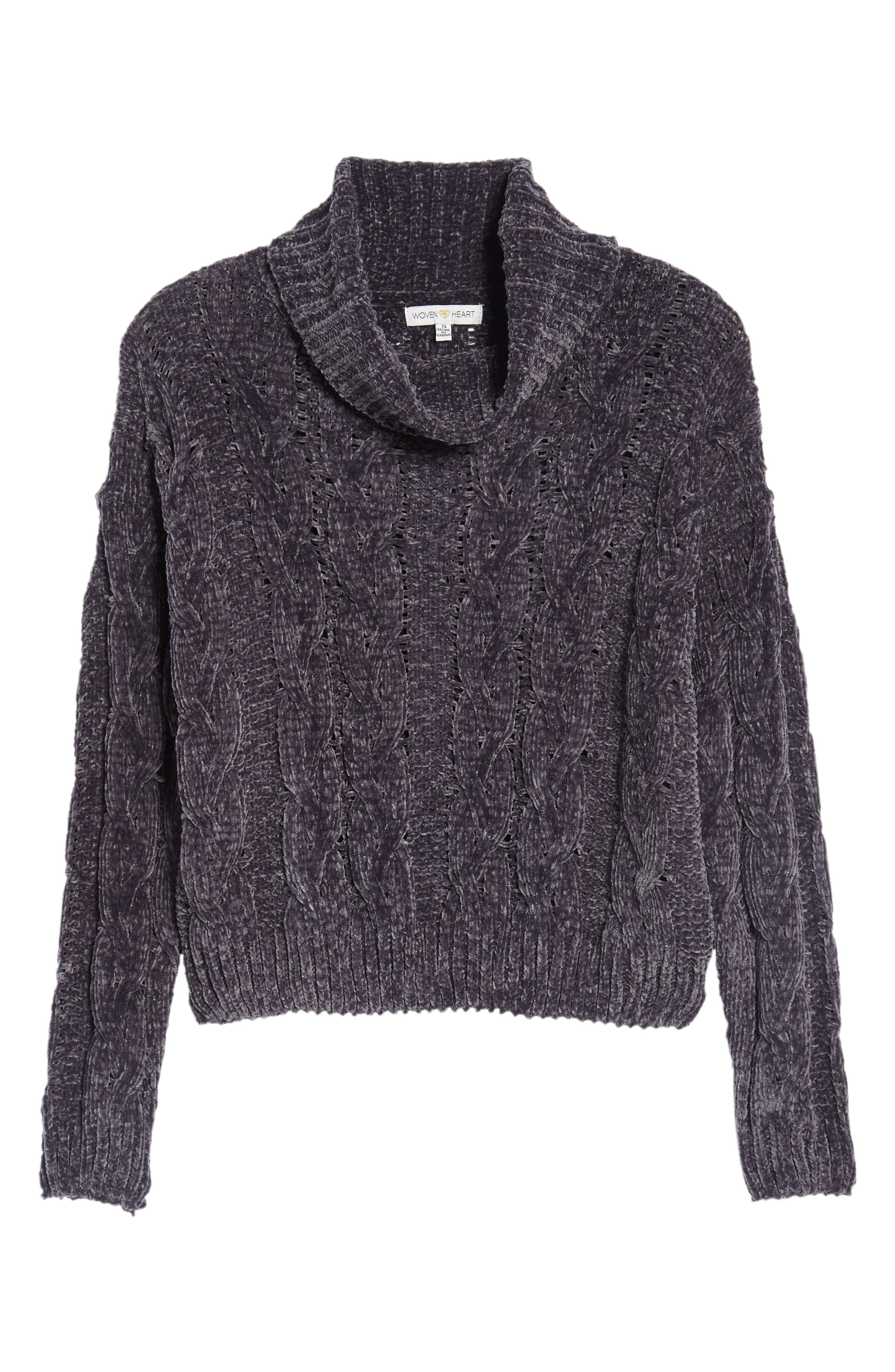 Chenille Turtleneck Sweater,                             Alternate thumbnail 6, color,                             020