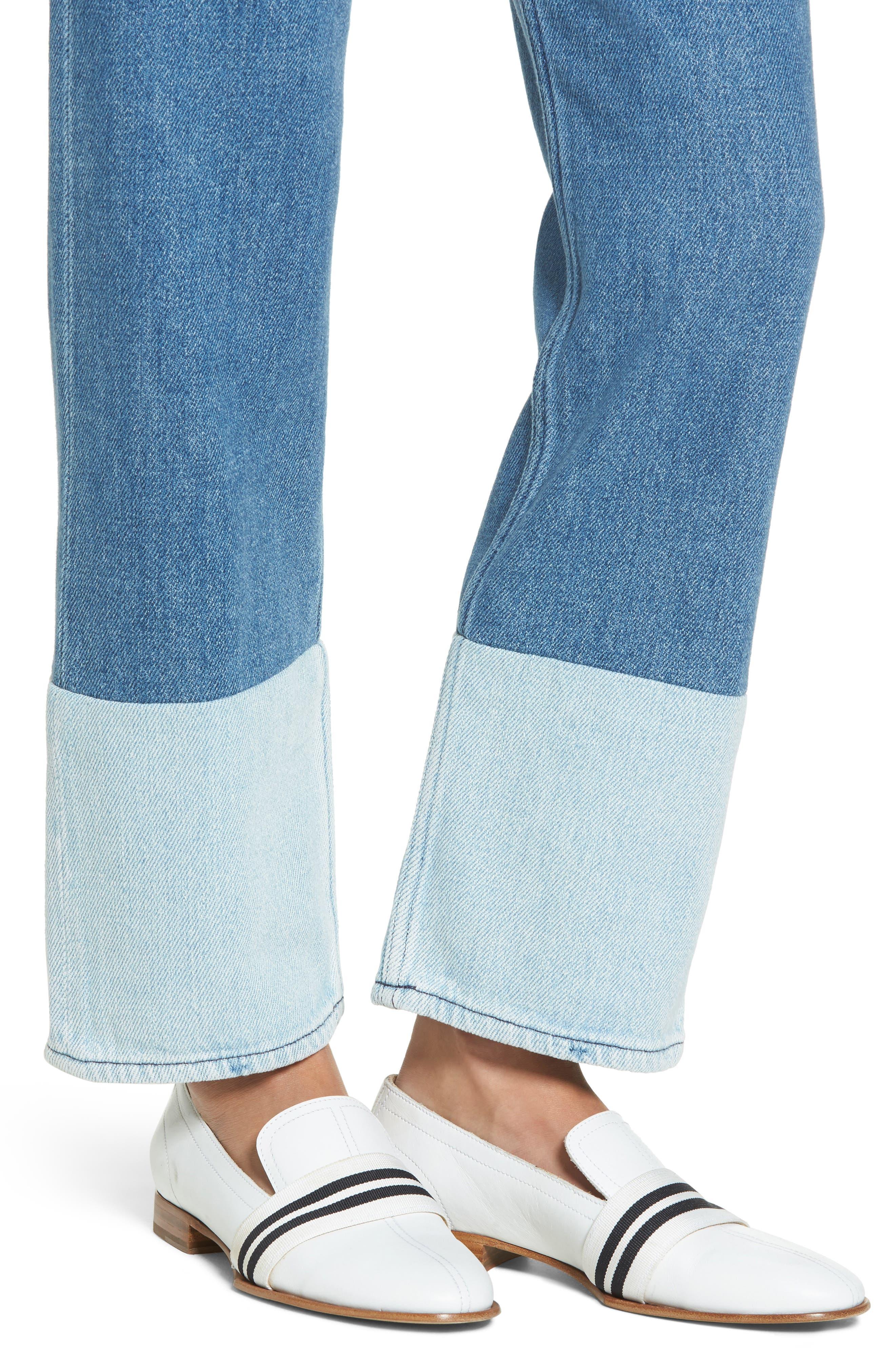 High Waist Straight Leg Jeans,                             Alternate thumbnail 4, color,                             404