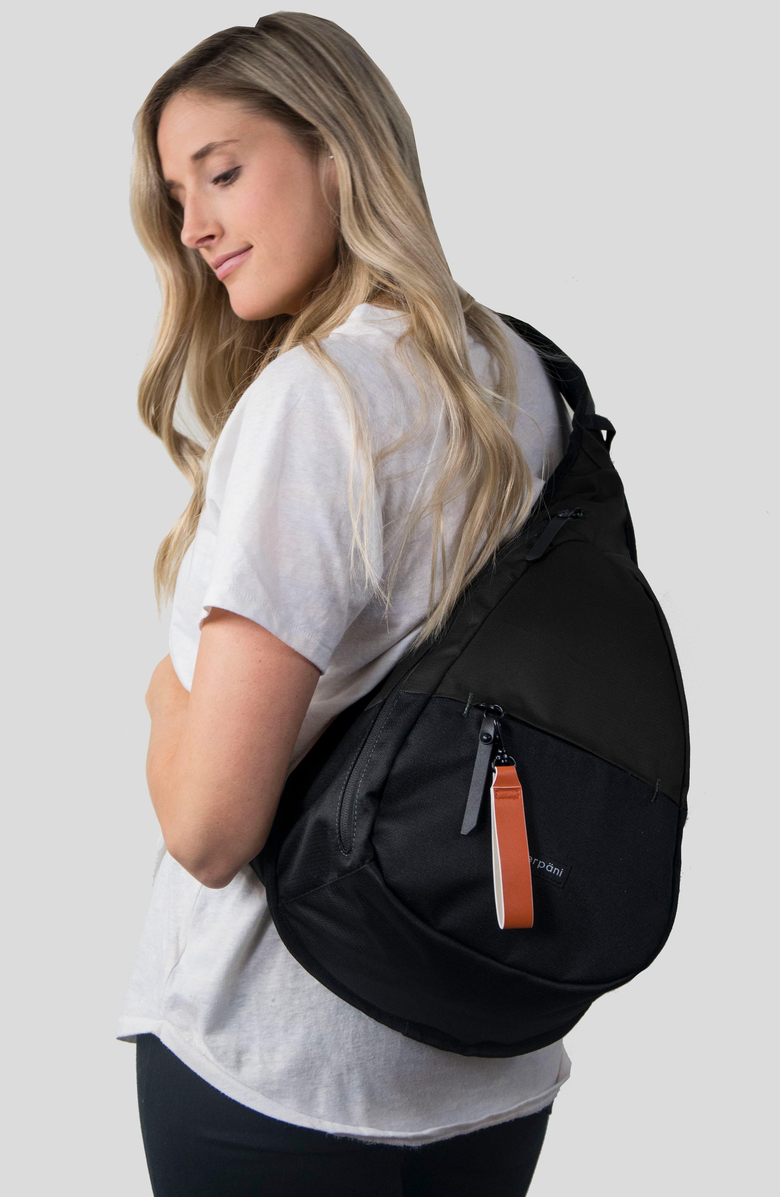 Esprit RFID Sling Backpack,                             Alternate thumbnail 2, color,                             001
