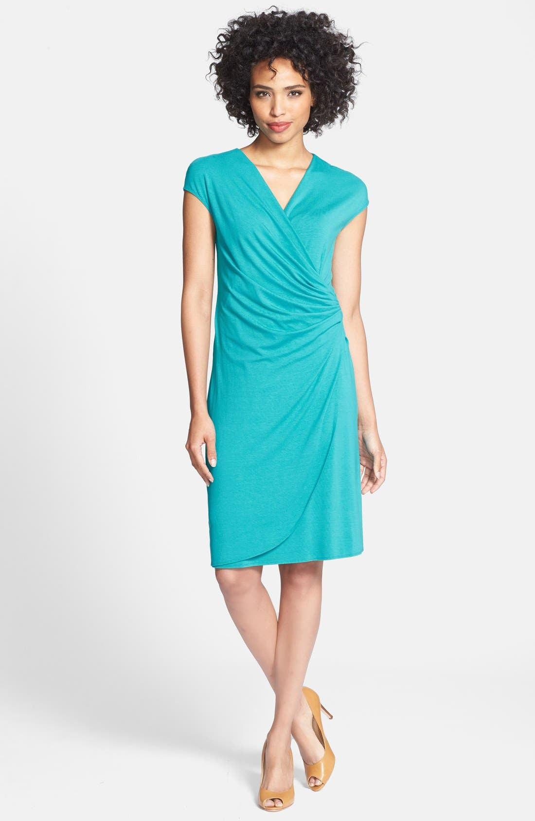 'Tambour' Side Gathered Dress,                             Main thumbnail 7, color,