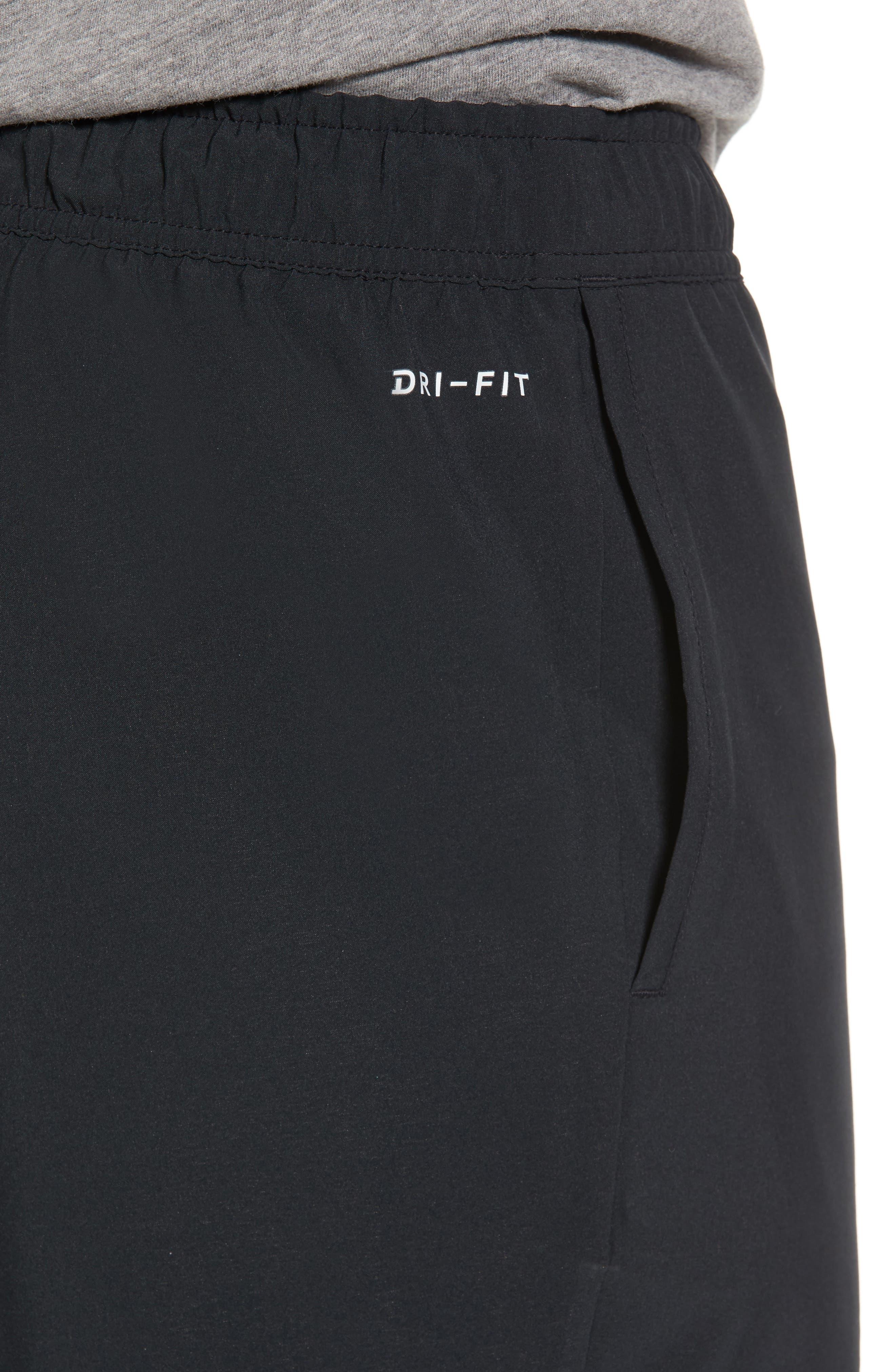Training Flex PX Shorts,                             Alternate thumbnail 4, color,                             BLACK/ WHITE/ WHITE
