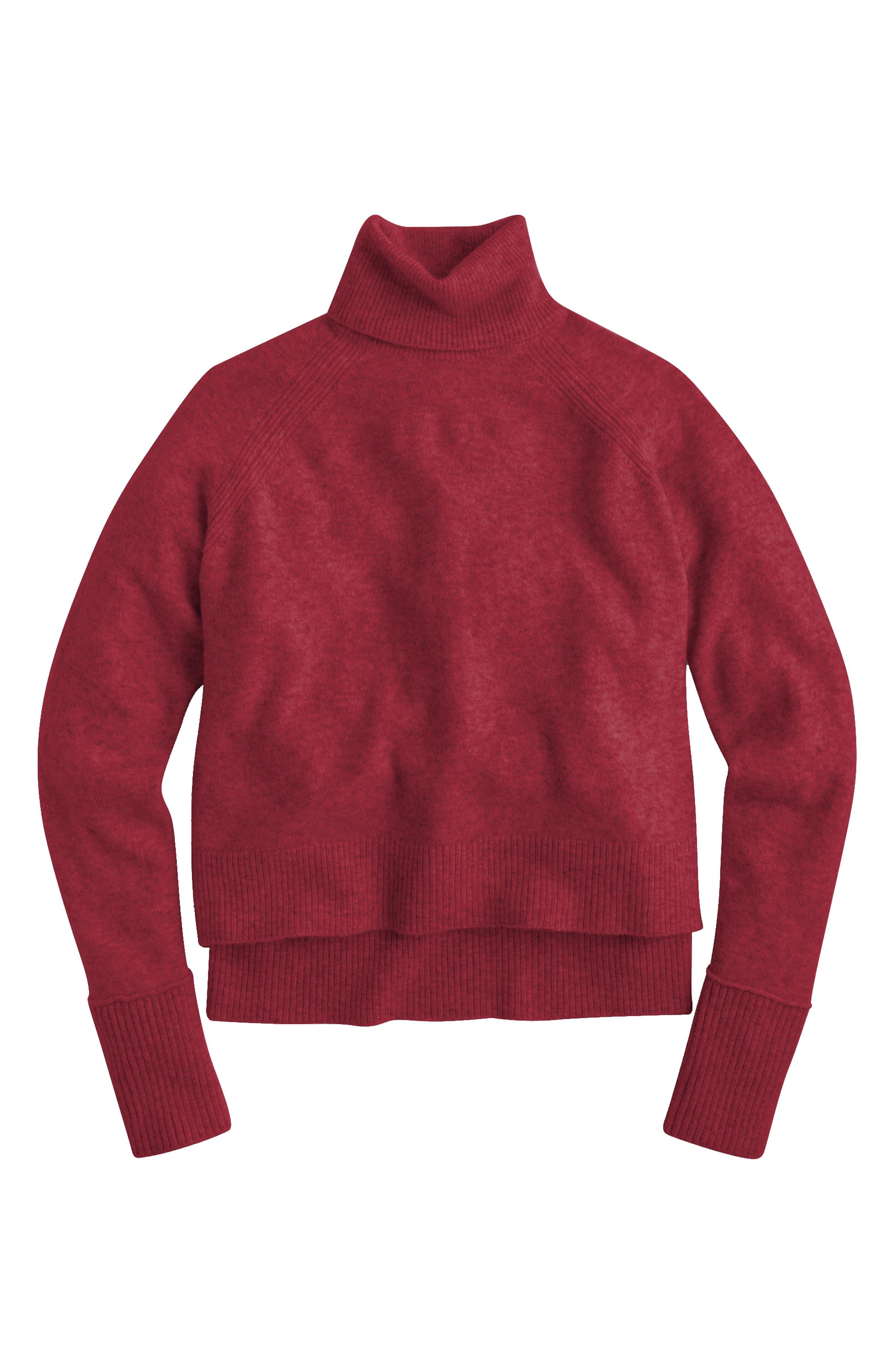 Side Slit Supersoft Turtleneck Sweater,                             Main thumbnail 5, color,