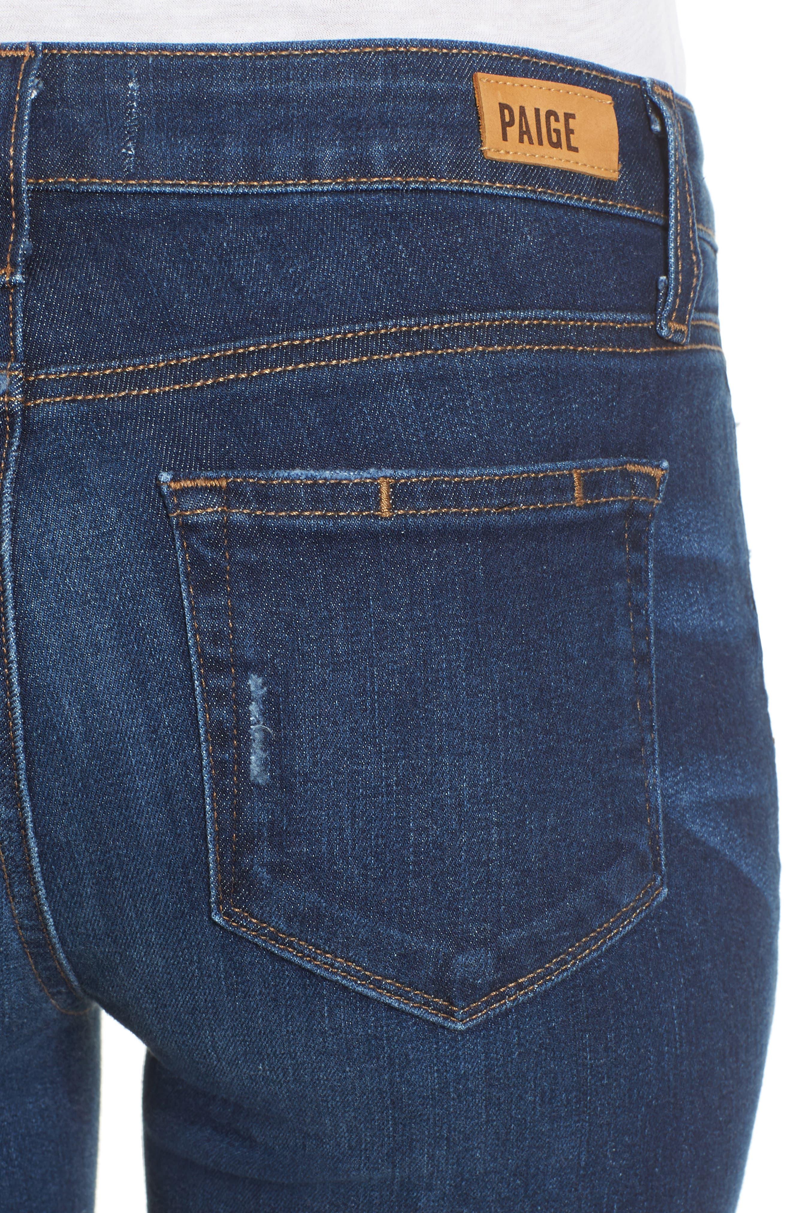 Verdugo Transcend Vintage Crop Skinny Jeans,                             Alternate thumbnail 4, color,                             400