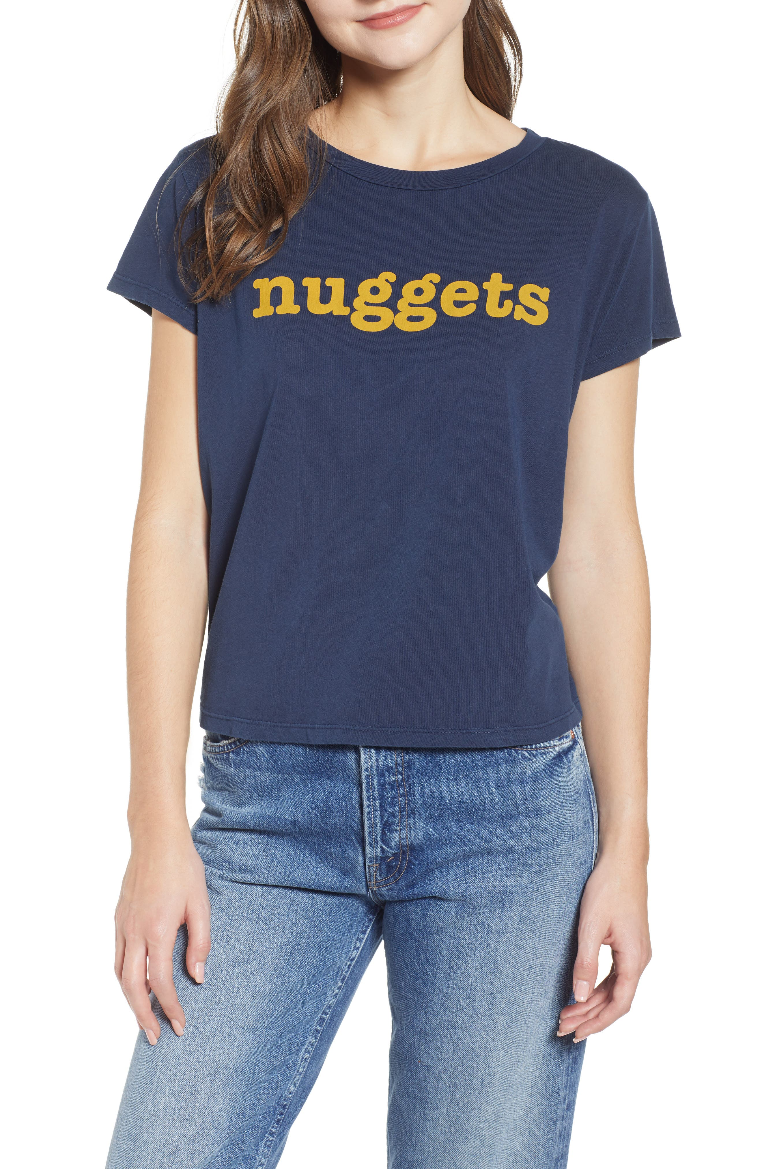 The Boxy Goodie Goodie Supima<sup>®</sup> Cotton Tee,                             Main thumbnail 1, color,                             NAVY
