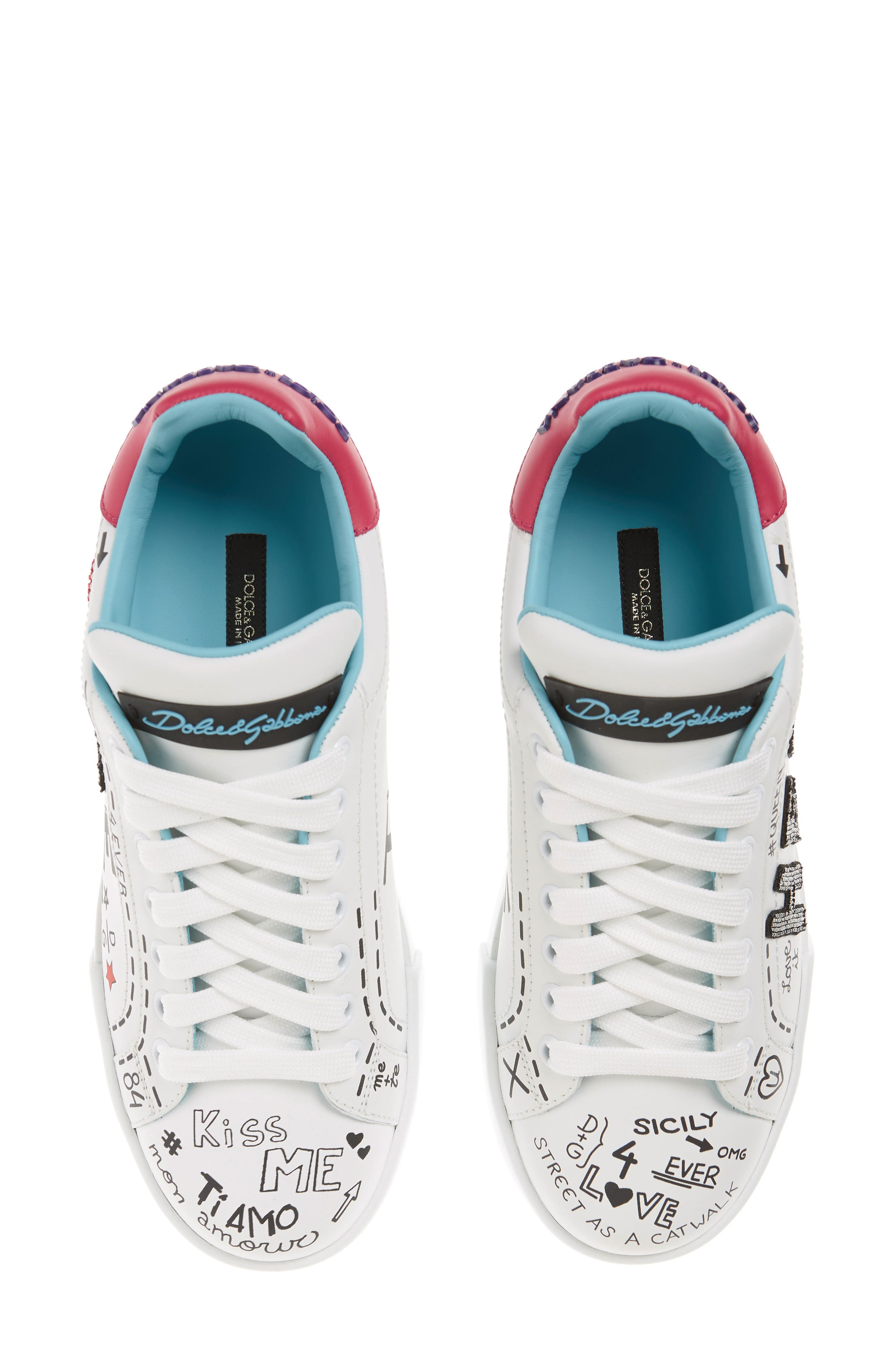 Love Lace-Up Sneaker,                         Main,                         color, WHITE