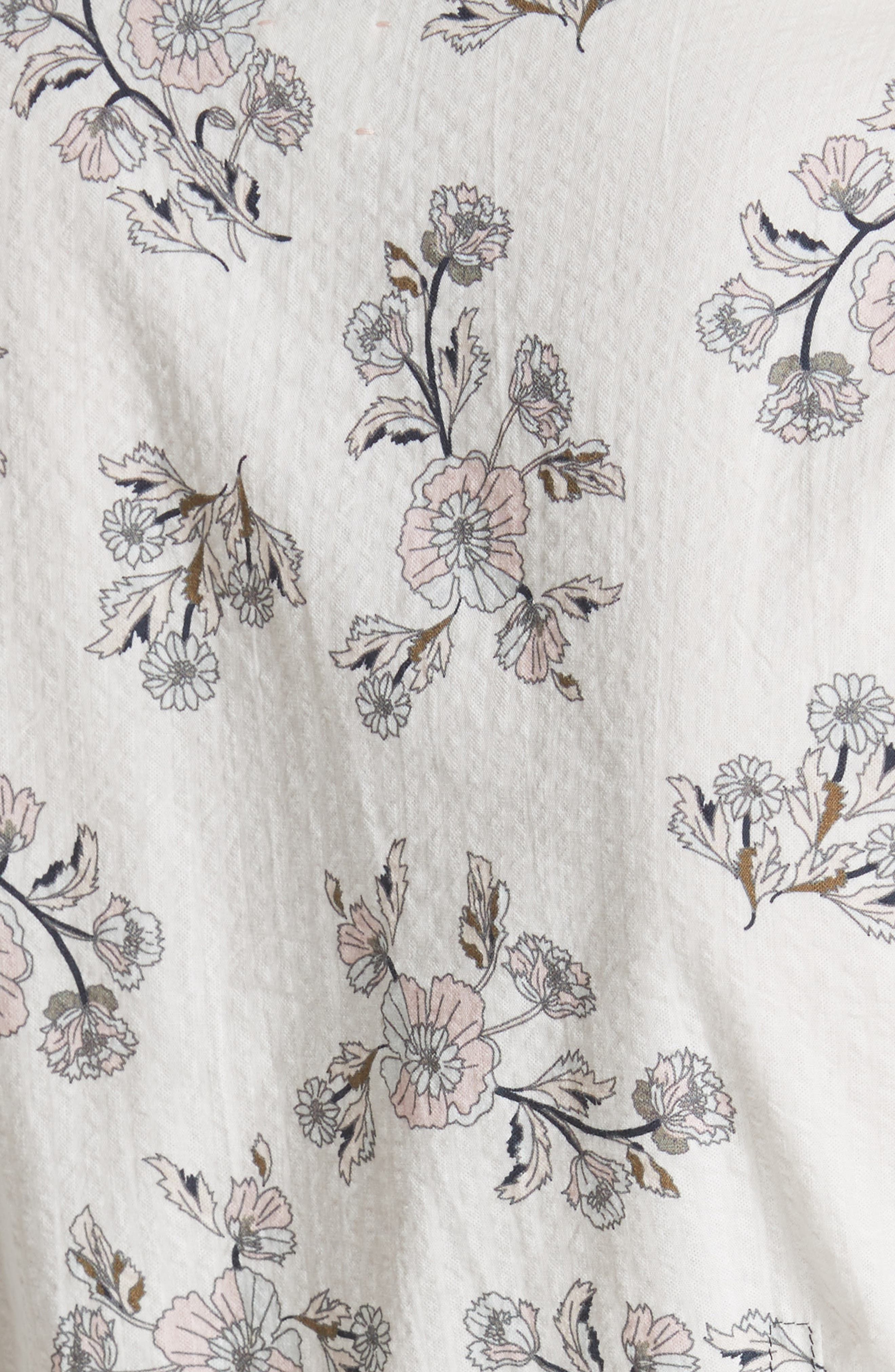 LA VIE REBECCA TAYLOR,                             Camille Floral Peplum Top,                             Alternate thumbnail 5, color,                             183