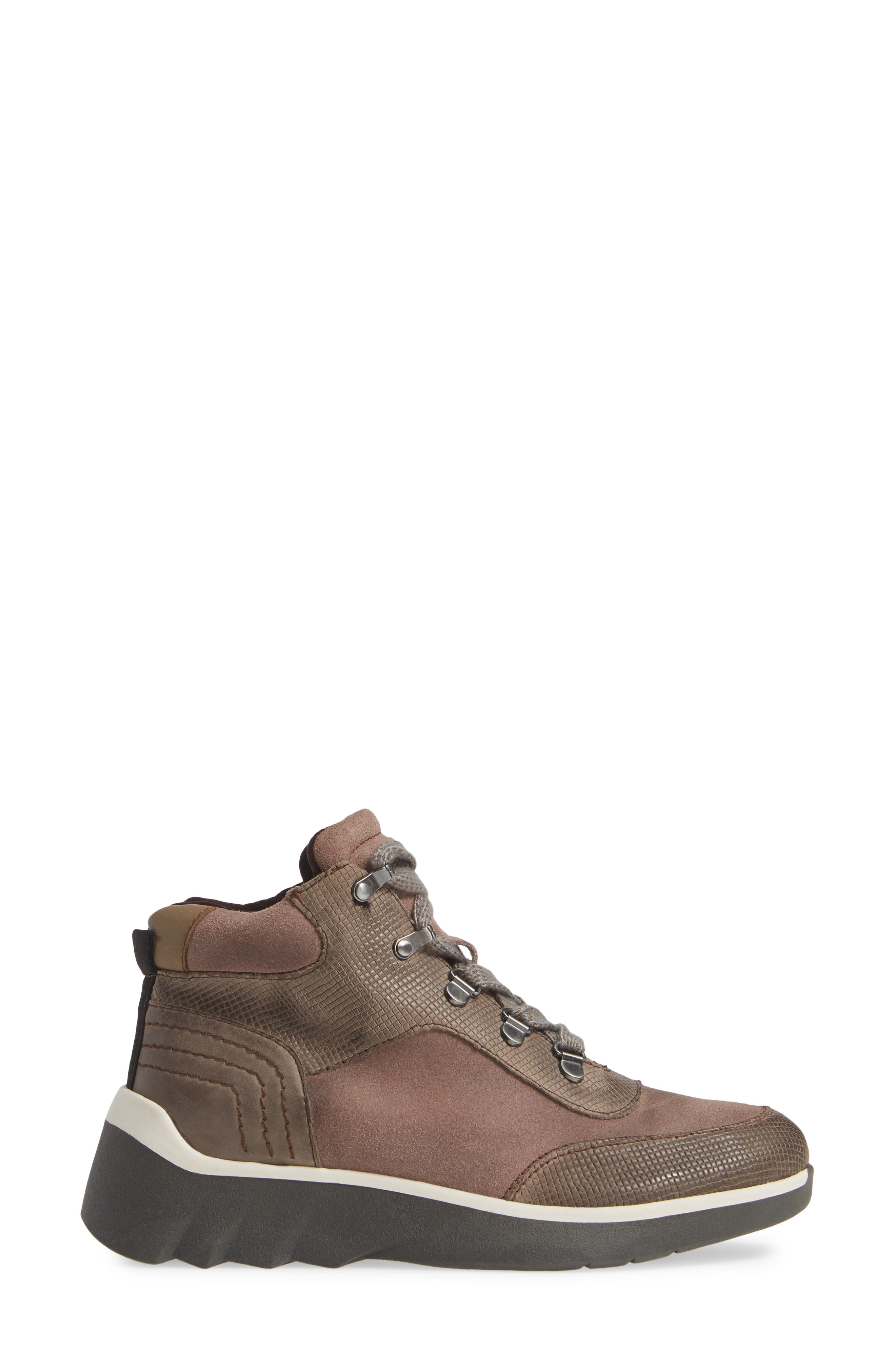 Commuter Sneaker,                             Alternate thumbnail 3, color,                             CINDER LEATHER