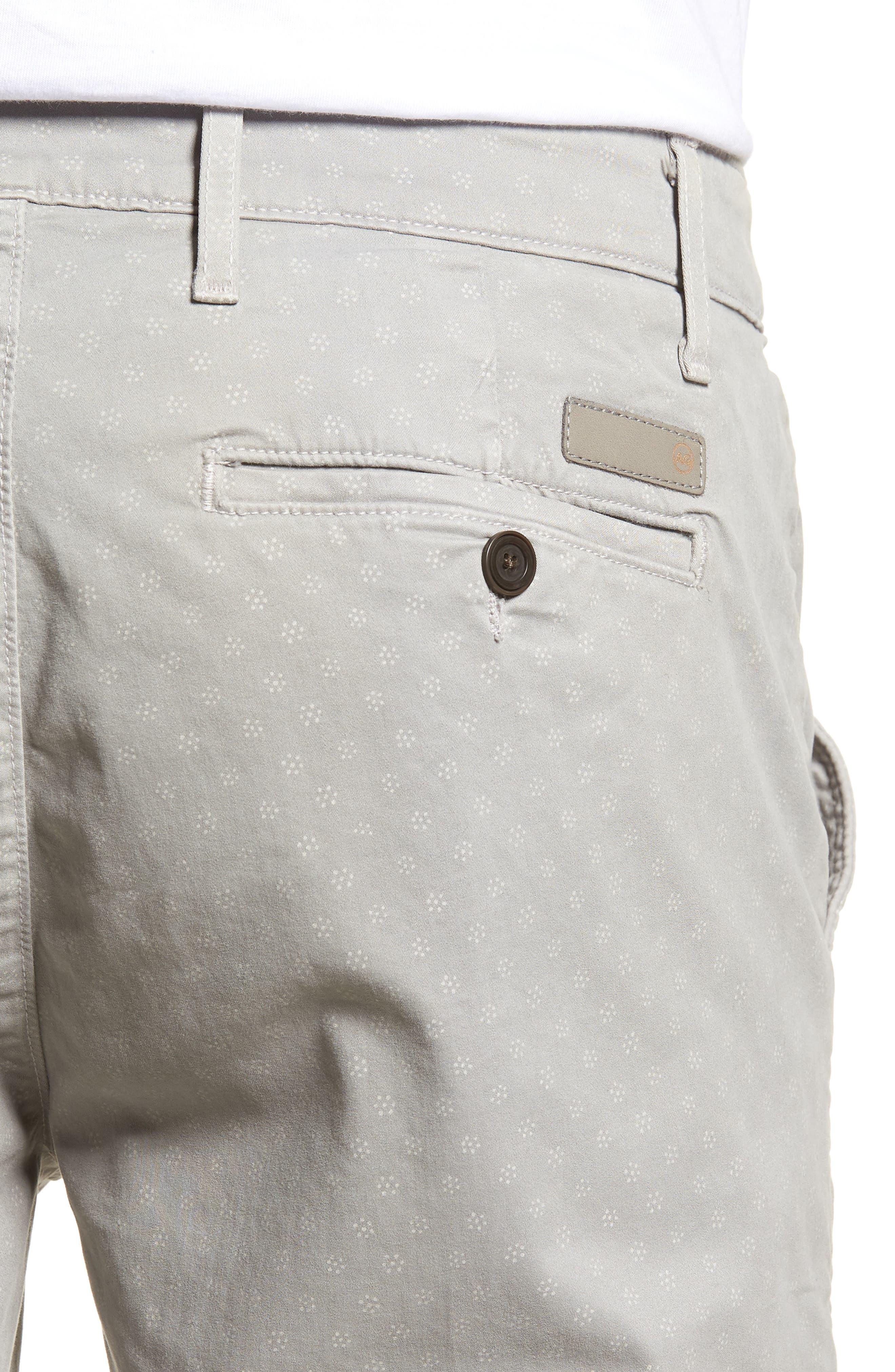 Flora Print Slim Fit Shorts,                             Alternate thumbnail 4, color,                             020