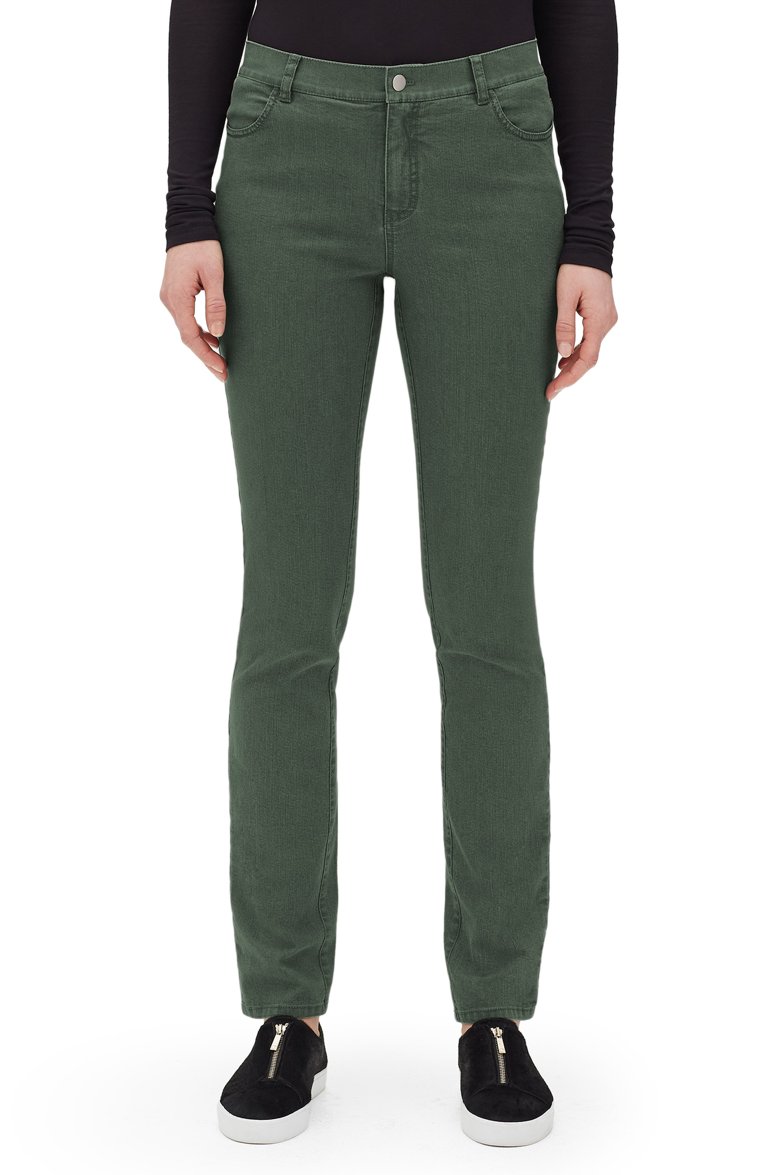 Thompson Bella Denim Slim-Leg Jean in Bottle Green
