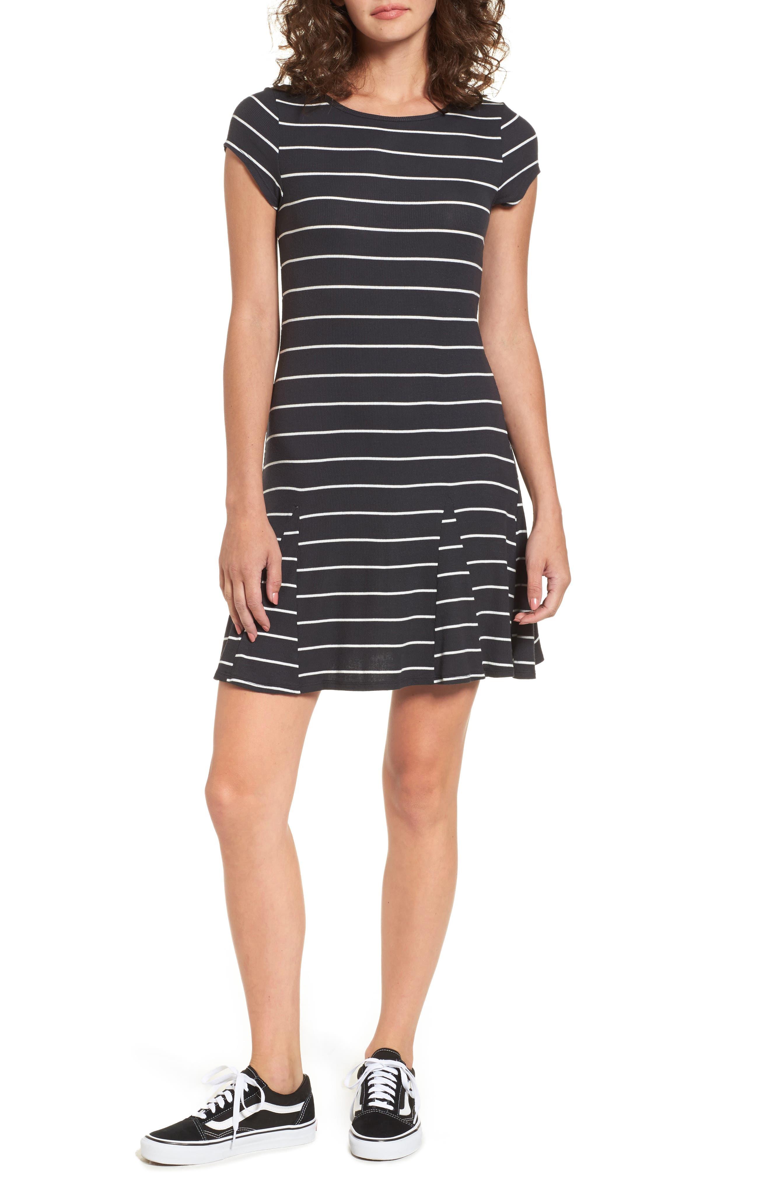 Rockin Down Stripe T-Shirt Dress,                             Main thumbnail 1, color,                             015