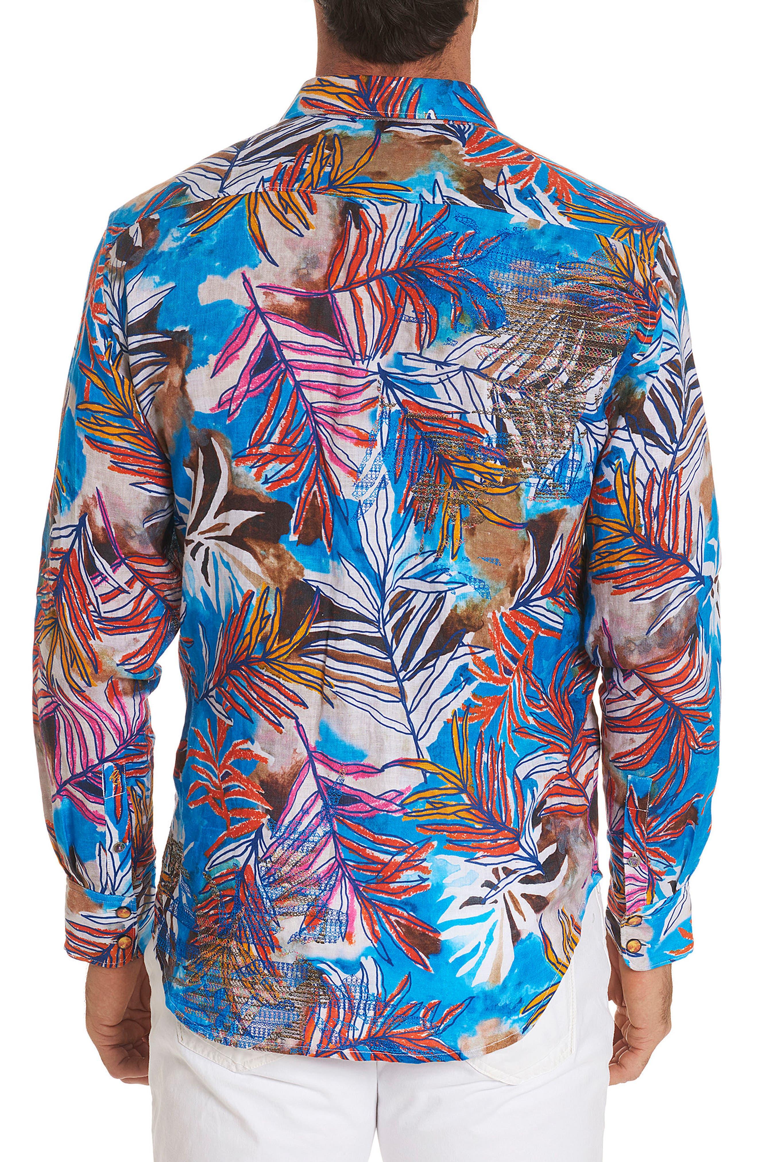 Kingpin Louie Limited Edition Classic Fit Linen Sport Shirt,                             Alternate thumbnail 2, color,                             400
