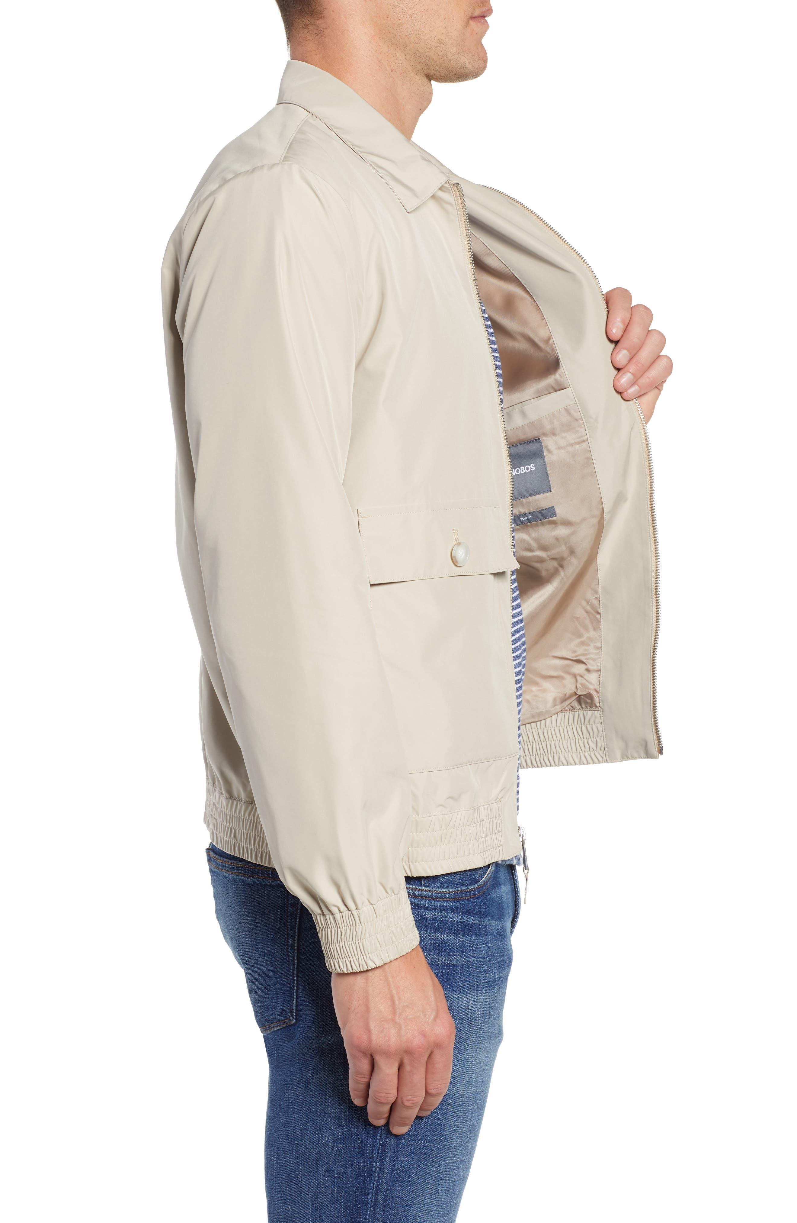 Slim Fit Lightweight Jacket,                             Alternate thumbnail 3, color,                             KHAKI