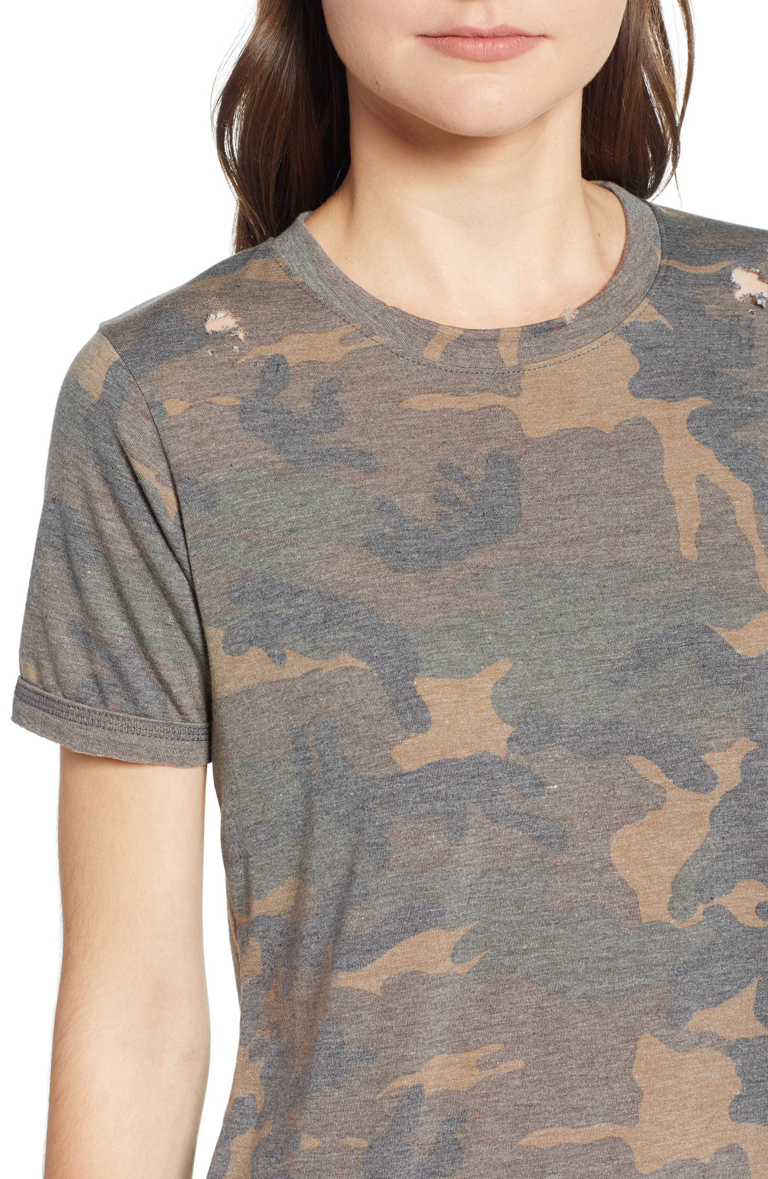 Distressed Camo Tee,                             Alternate thumbnail 4, color,                             304