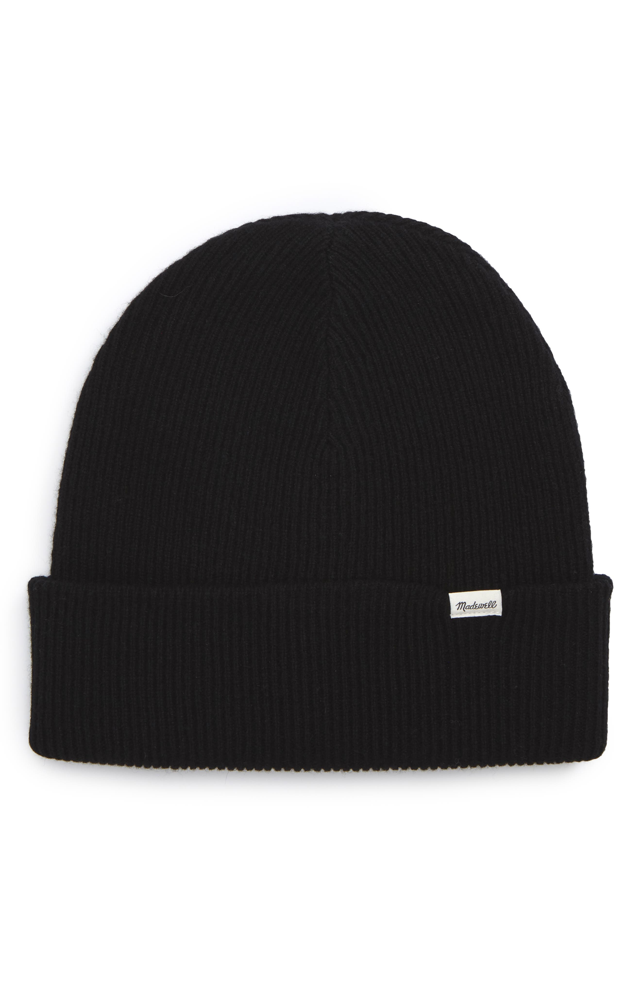 Cuffed Wool Beanie,                         Main,                         color, 001