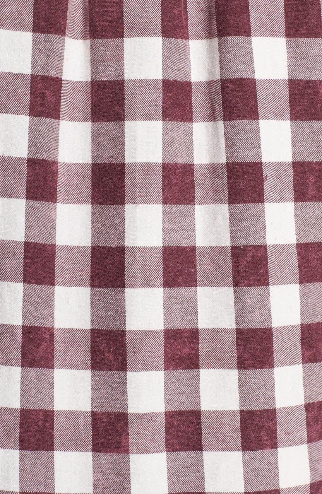 Plaid Cotton Blend Nightshirt,                             Alternate thumbnail 40, color,
