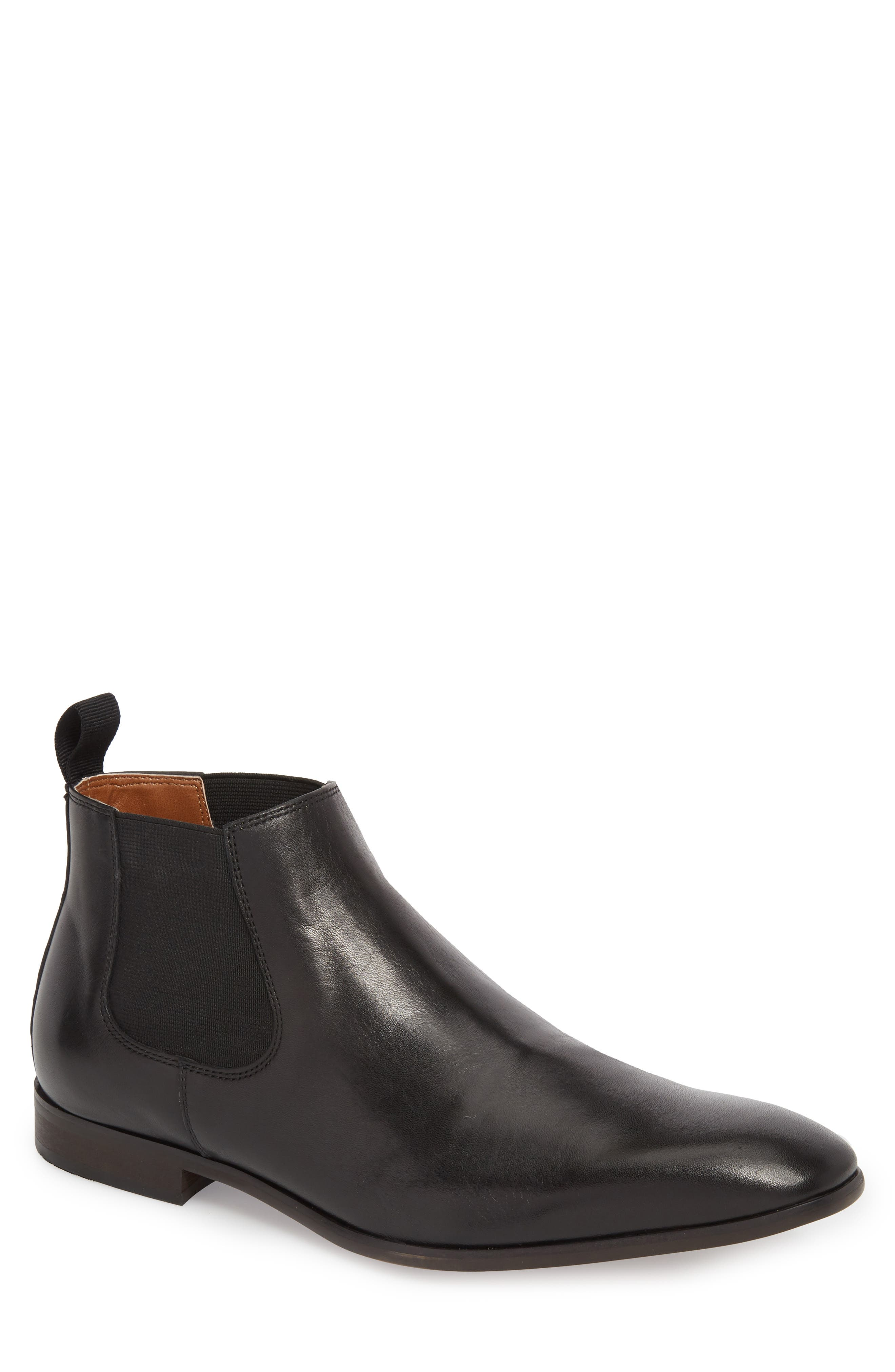 Edward Chelsea Boot,                             Main thumbnail 1, color,                             BLACK LEATHER