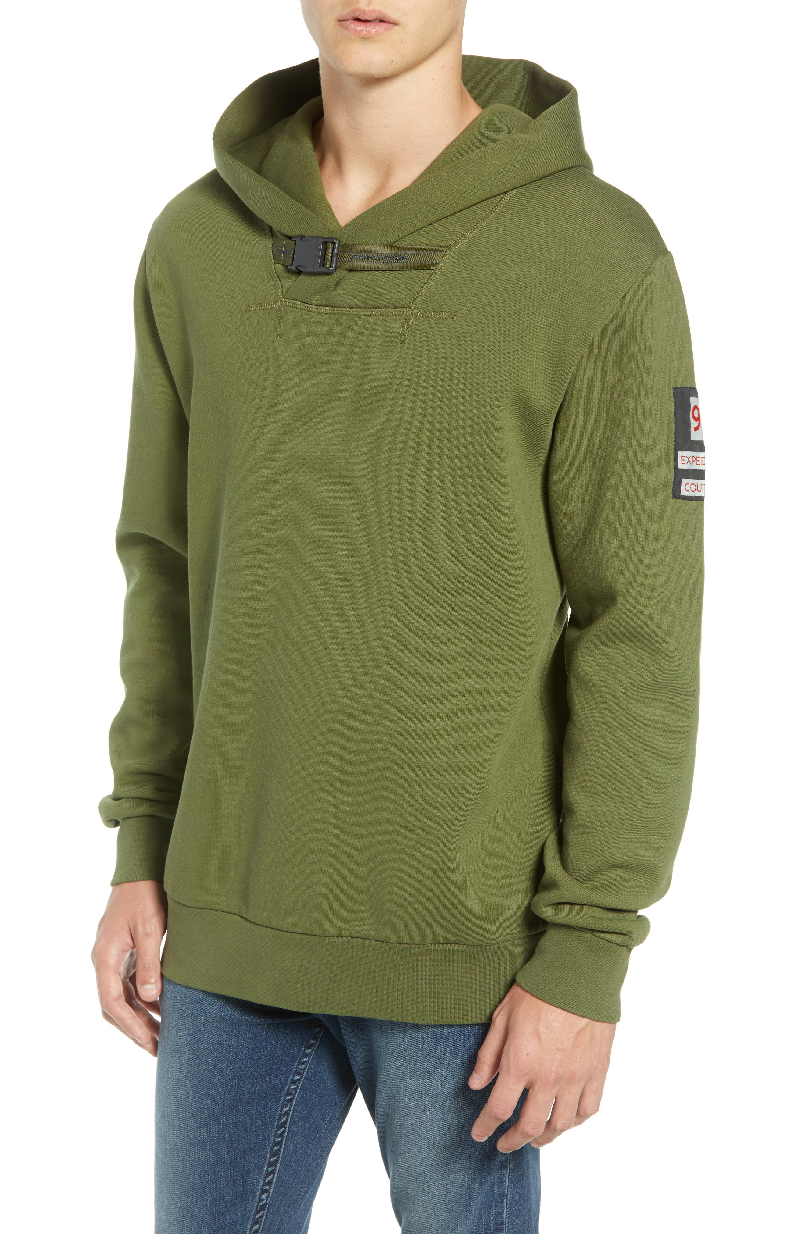 Explorer Clip Buckle Hooded Pullover,                         Main,                         color, COMBO C