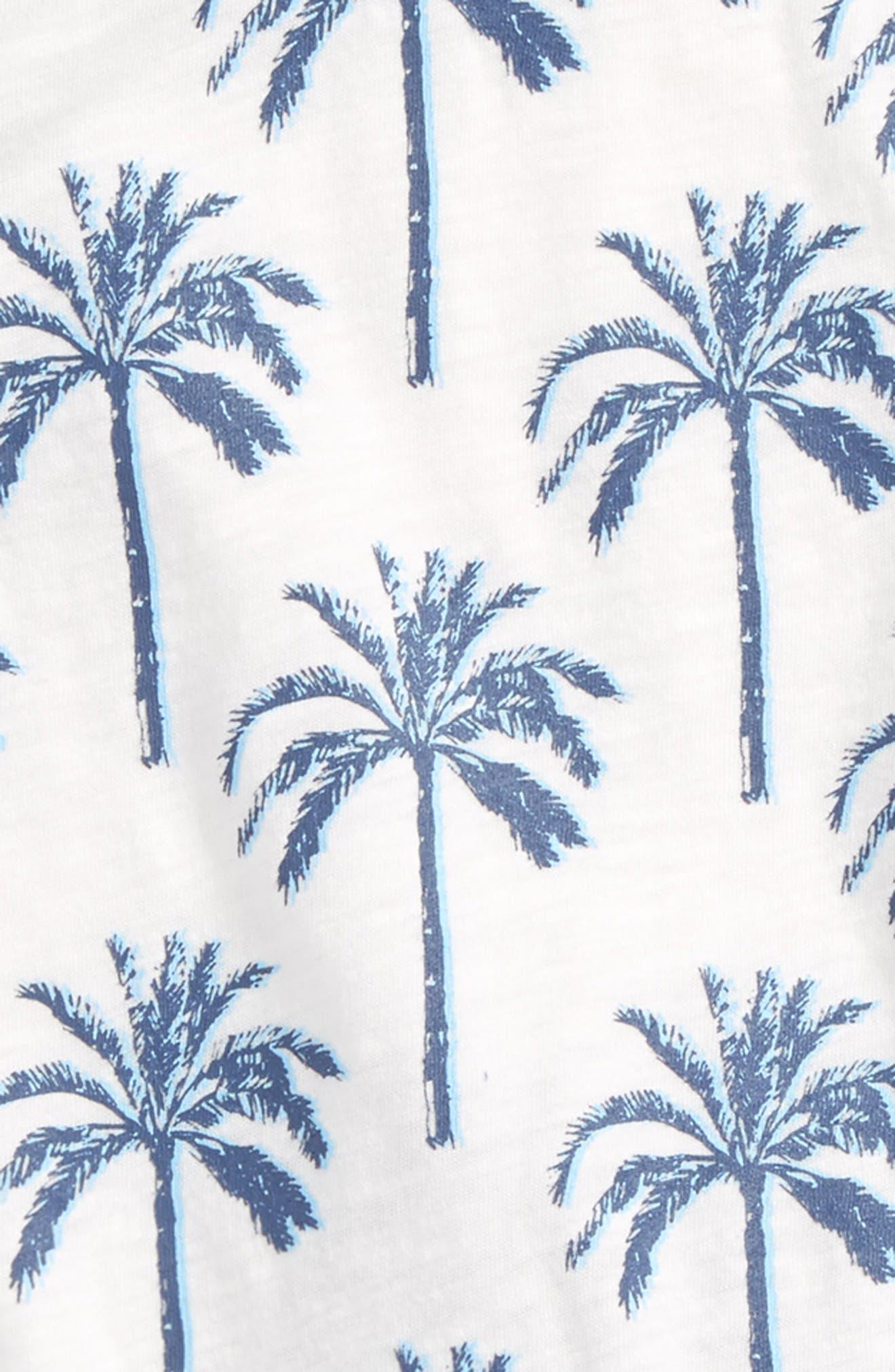 Palm Tree T-Shirt & Shorts Set,                             Alternate thumbnail 2, color,                             401