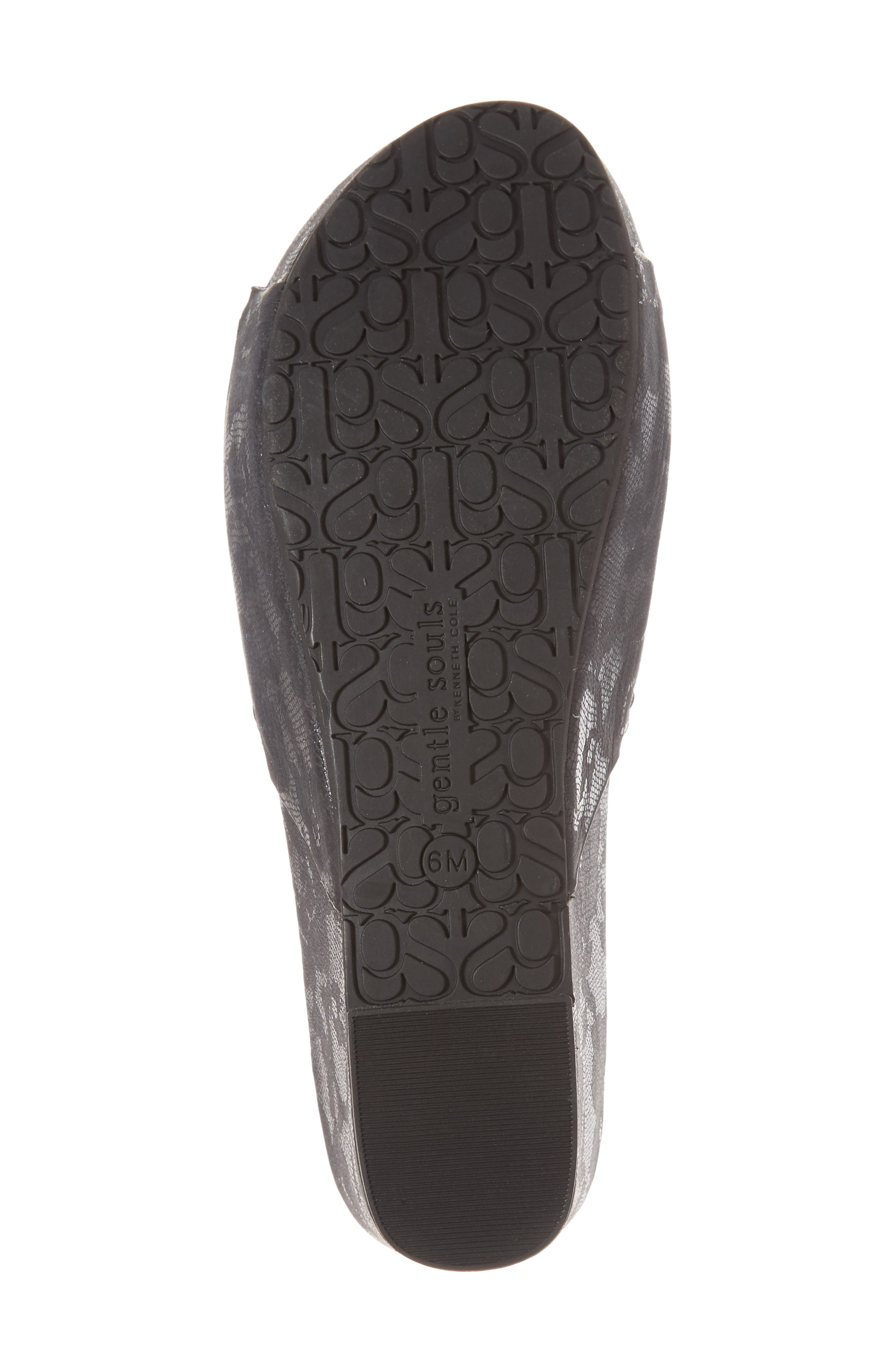 by Kenneth Cole Forella Slide Sandal,                             Alternate thumbnail 6, color,                             BLACK PRINTED LEATHER
