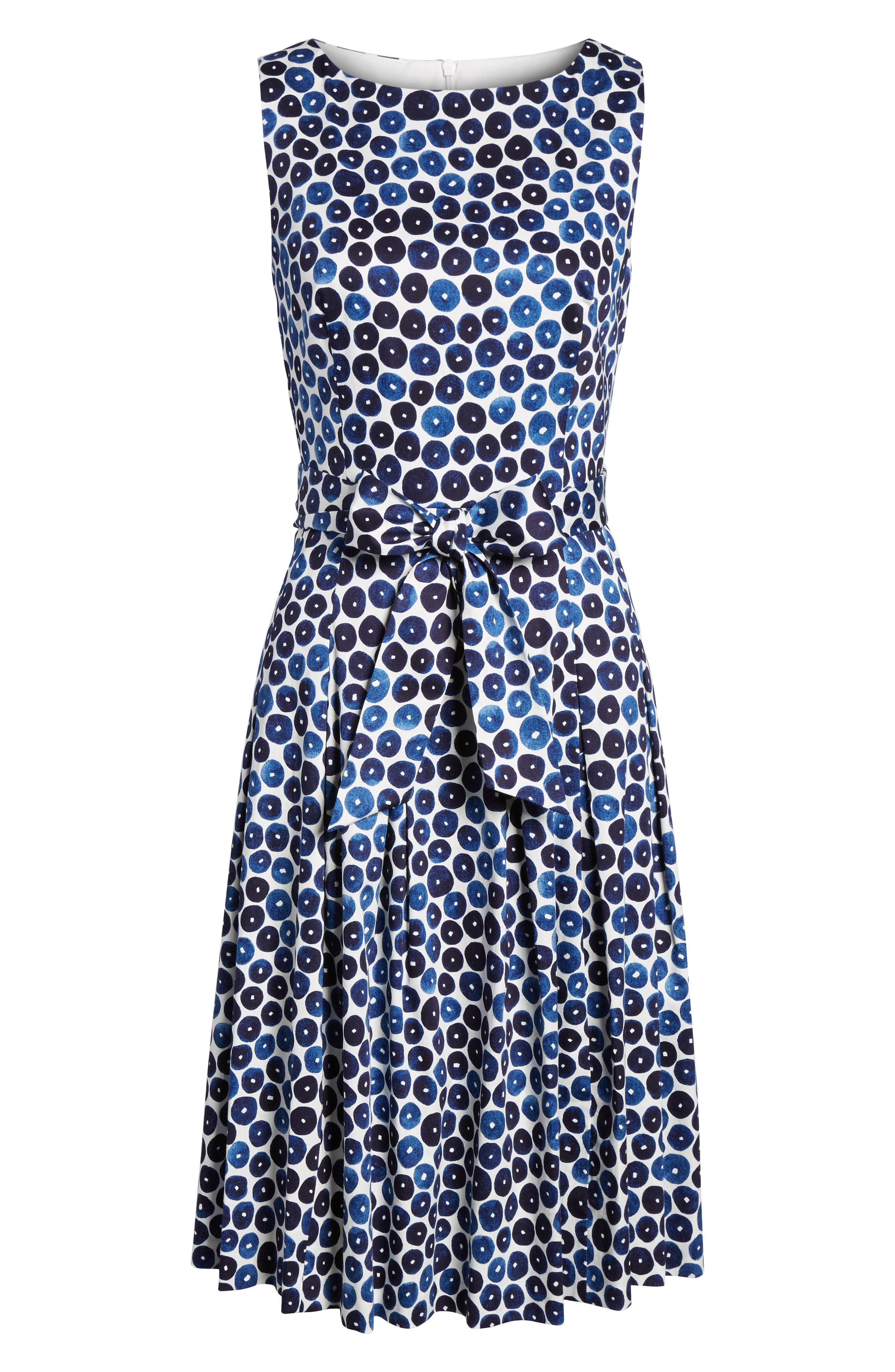 Neroli Print Cotton Sateen Dress,                             Alternate thumbnail 6, color,                             400