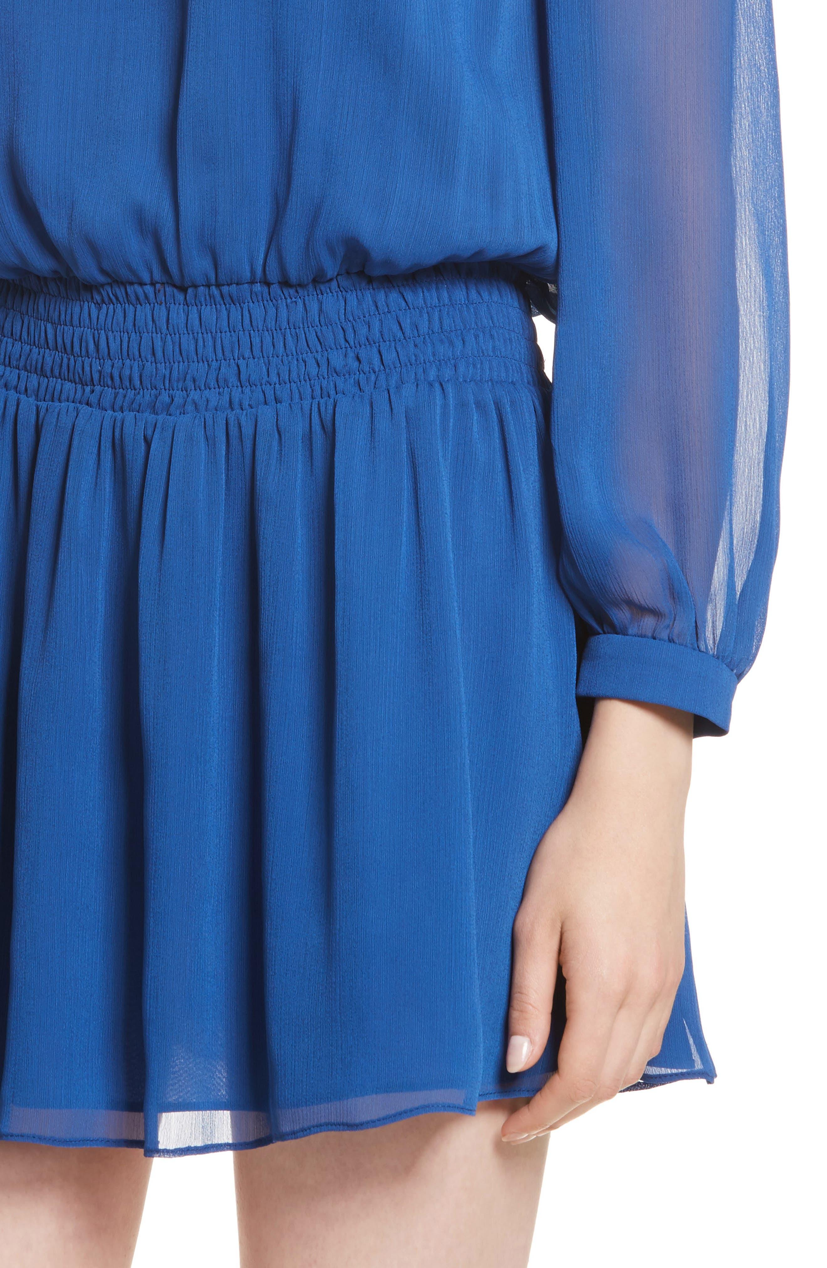 Adaline Smocked Waist Minidress,                             Alternate thumbnail 4, color,                             400