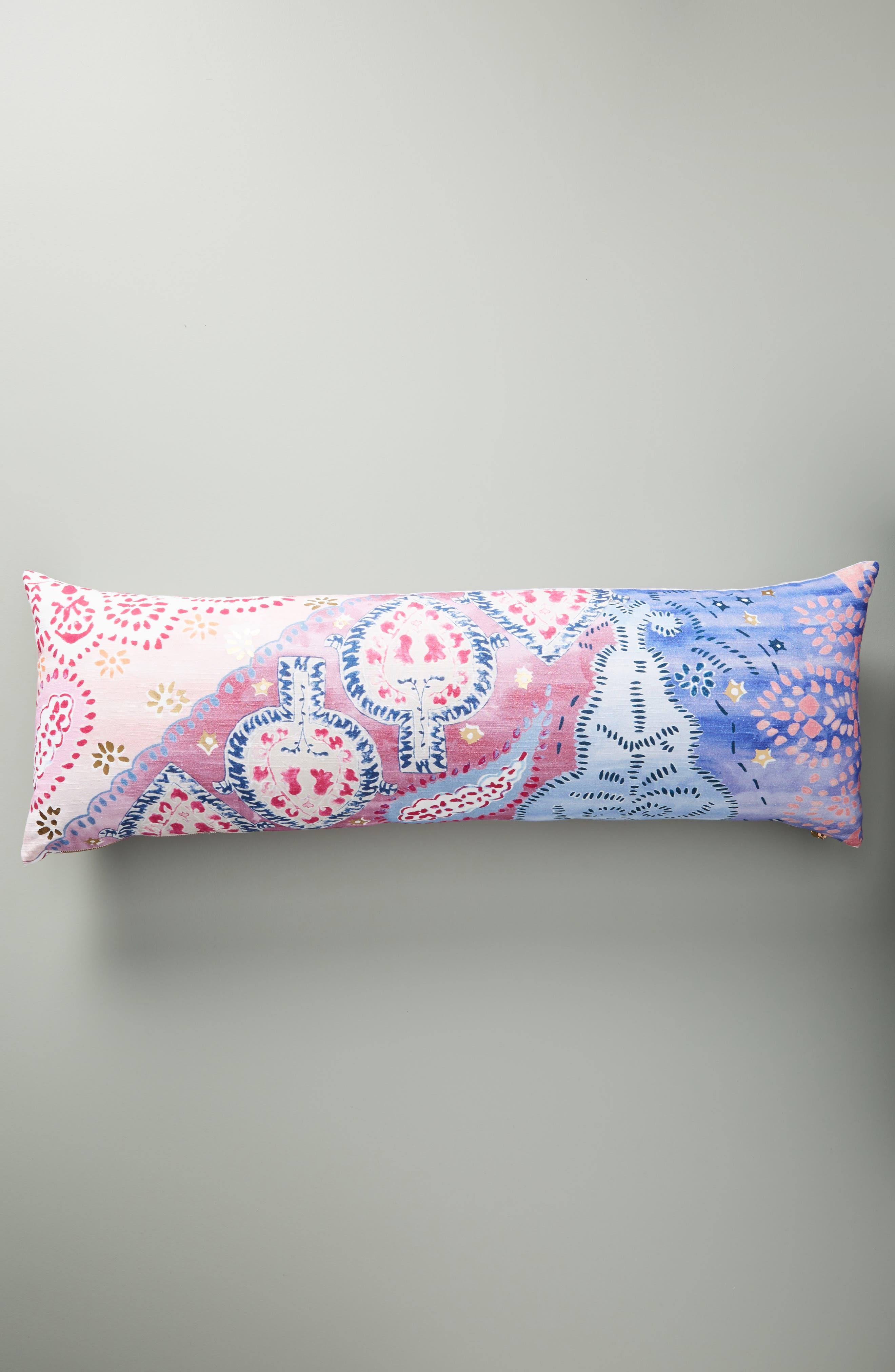 Piper Lumbar Pillow,                             Main thumbnail 1, color,                             PERIWINKLE